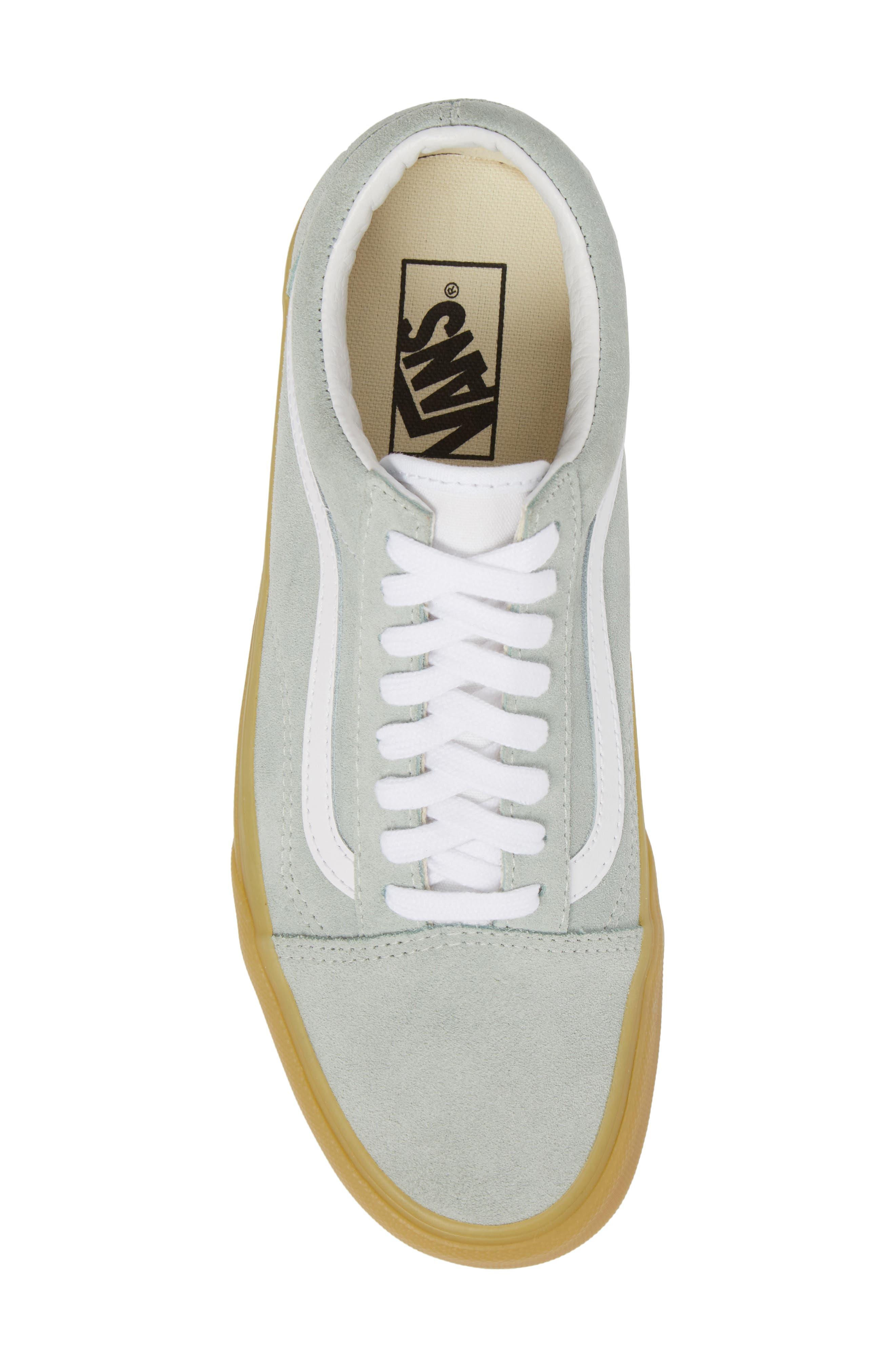 Gum Old Skool Sneaker,                             Alternate thumbnail 5, color,                             Metal Leather