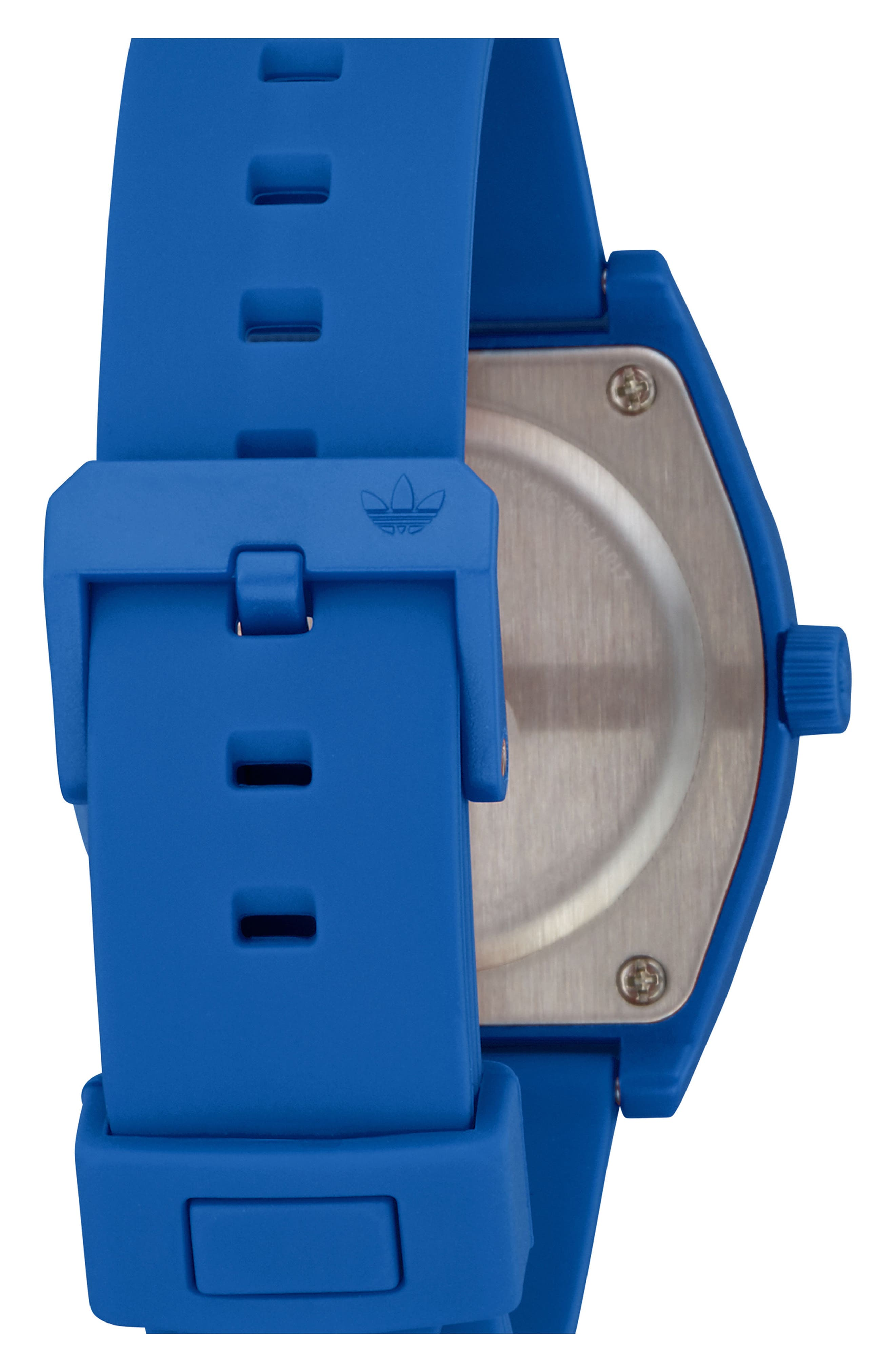 Process Silicone Strap Watch, 38mm,                             Alternate thumbnail 2, color,                             Blue