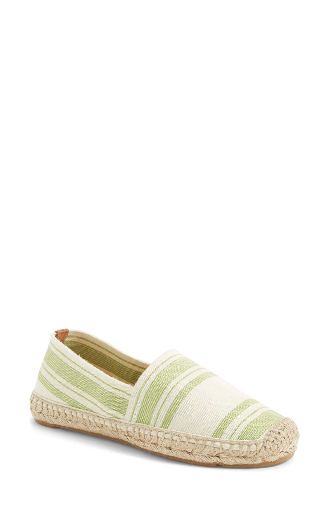Main Image - Tory Burch Stripe Espadrille Flat (Women)