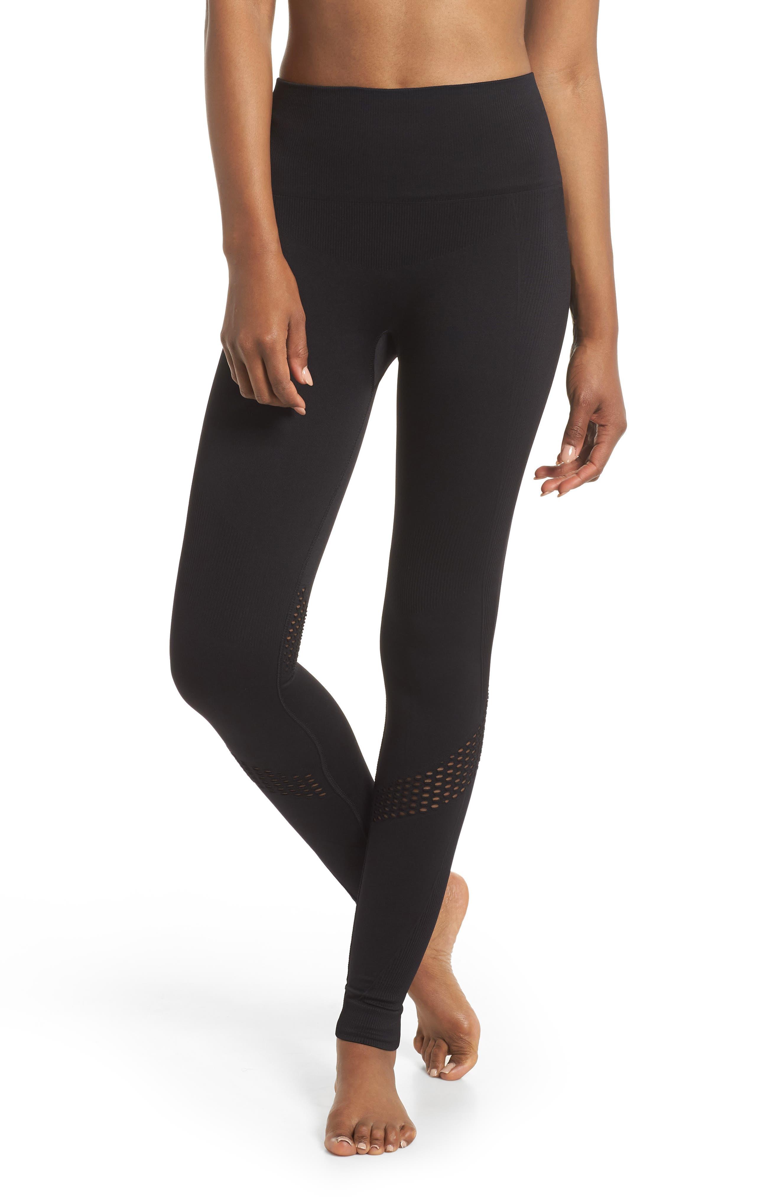 Seamless Leggings,                         Main,                         color, Black