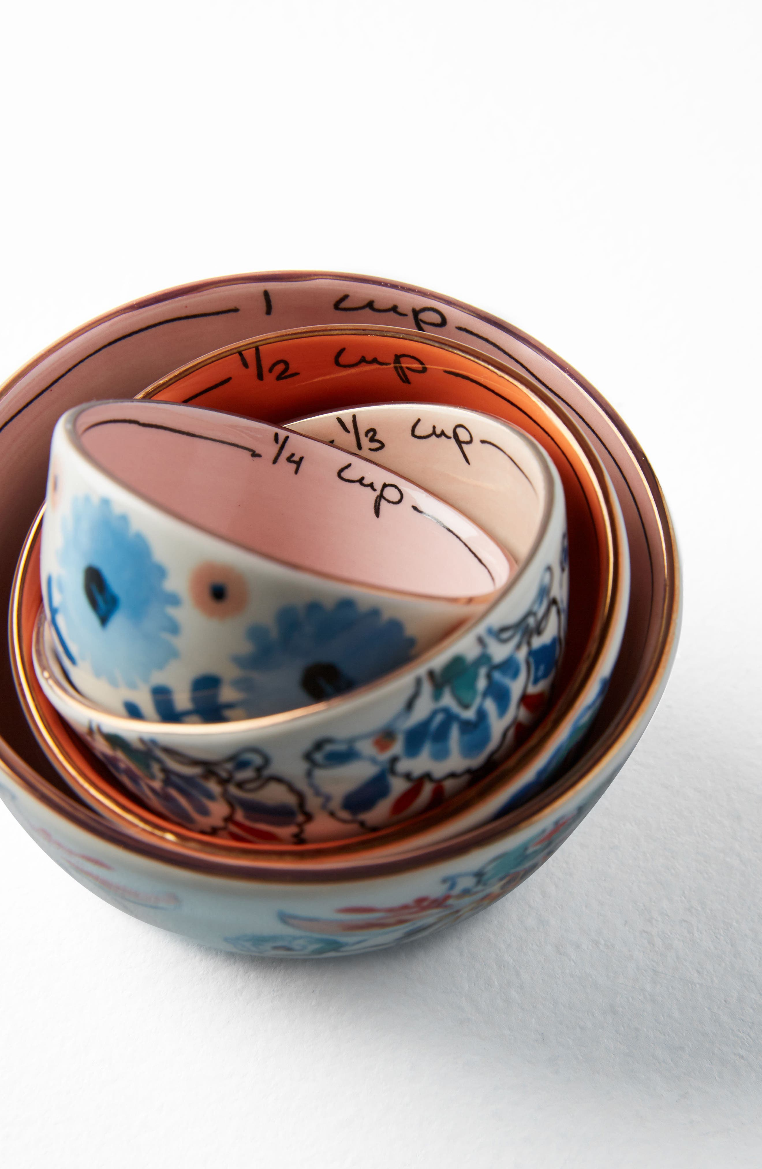 Eres Set of 4 Measuring Cups,                             Alternate thumbnail 4, color,                             Blue Multi