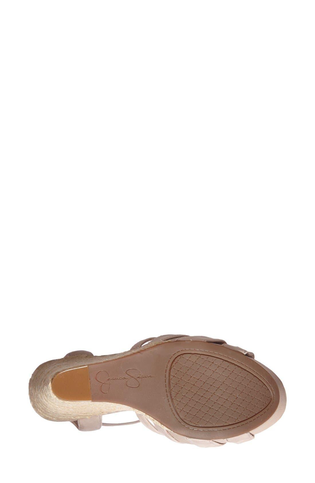 'Bristol' Ankle Strap Platform Wedge Sandal,                             Alternate thumbnail 2, color,                             Sandbar