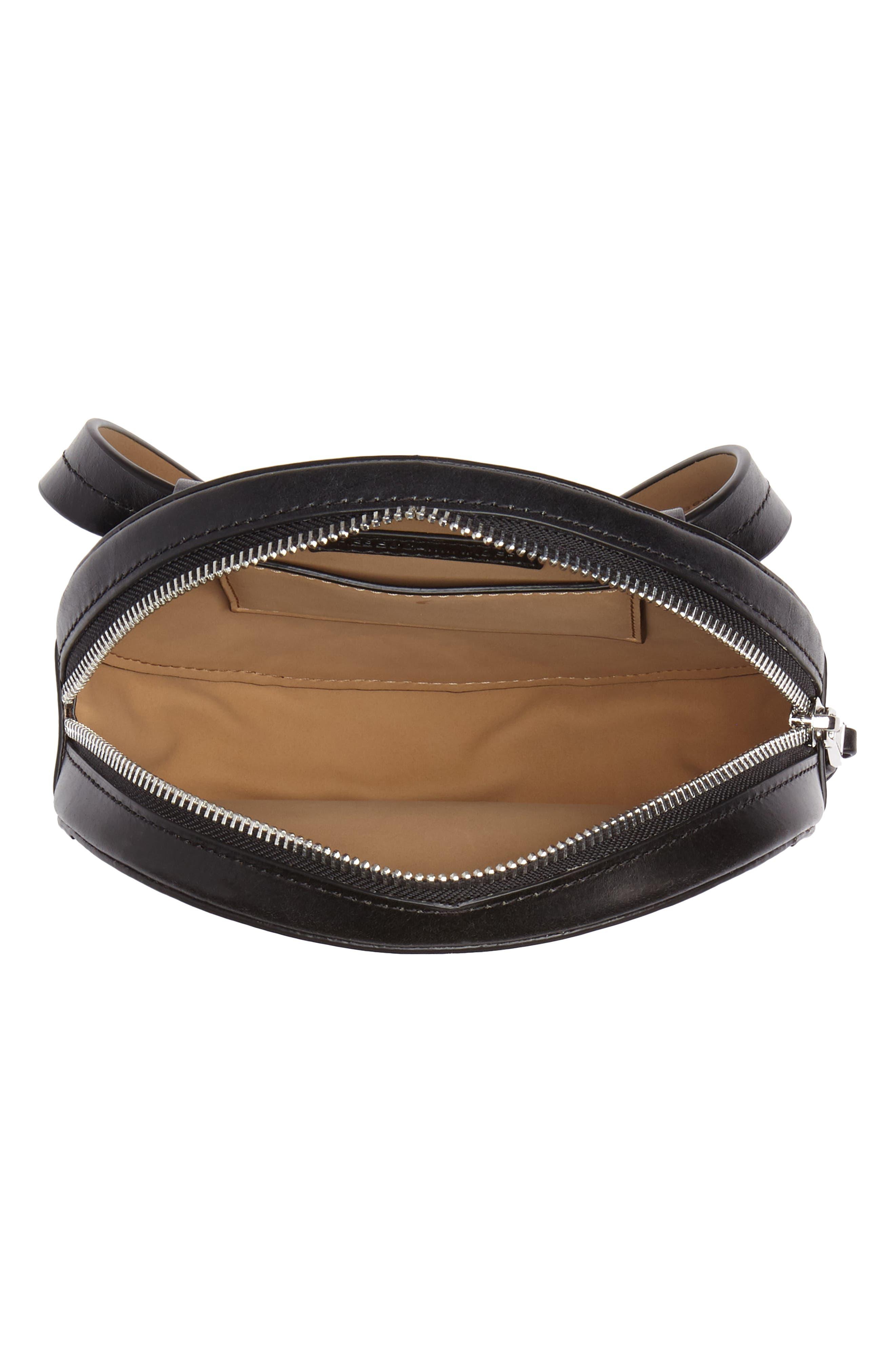 Studded Leather Belt Bag,                             Alternate thumbnail 5, color,                             Black