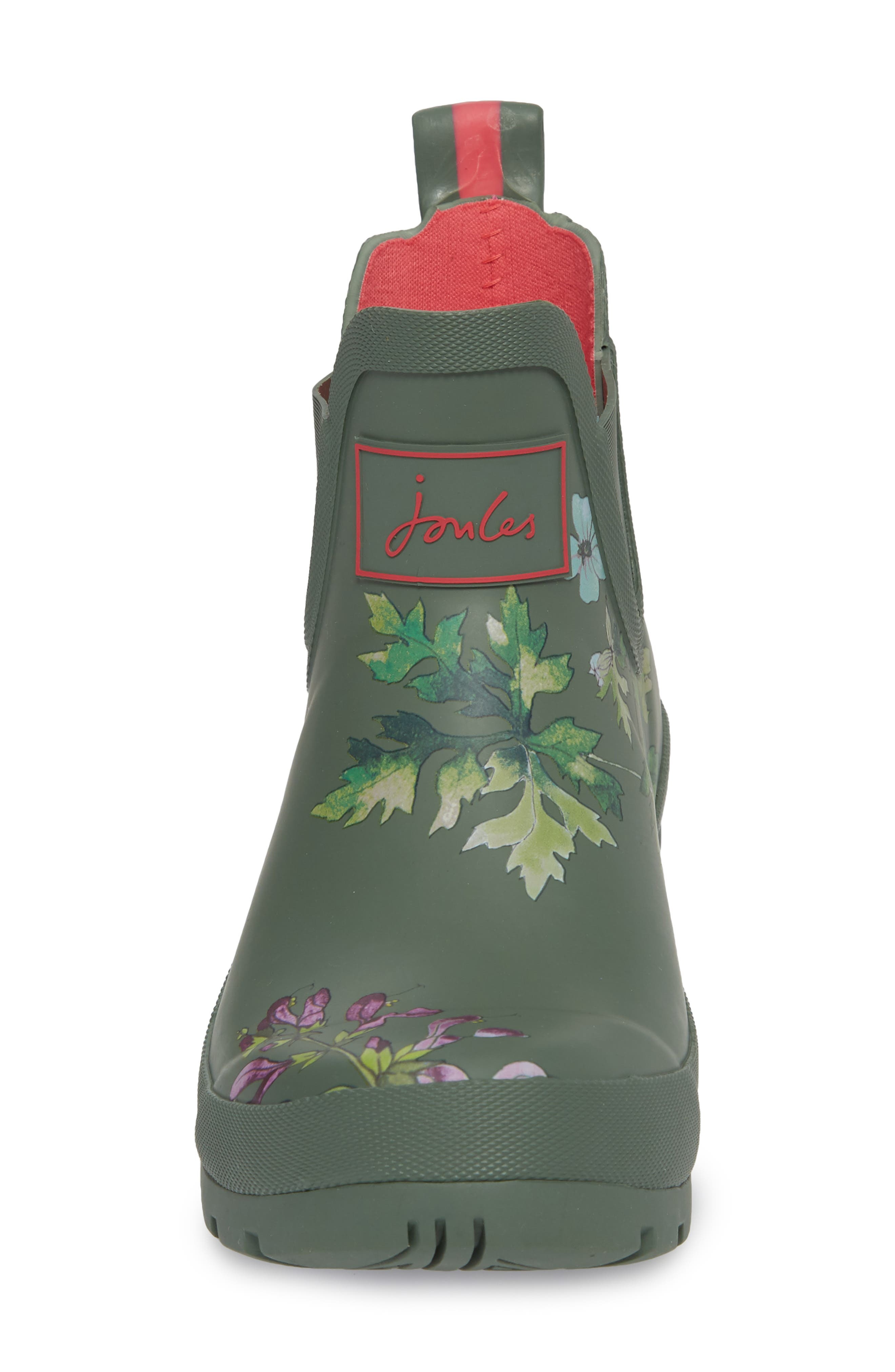 'Wellibob' Short Rain Boot,                             Alternate thumbnail 4, color,                             Laurel Botanical
