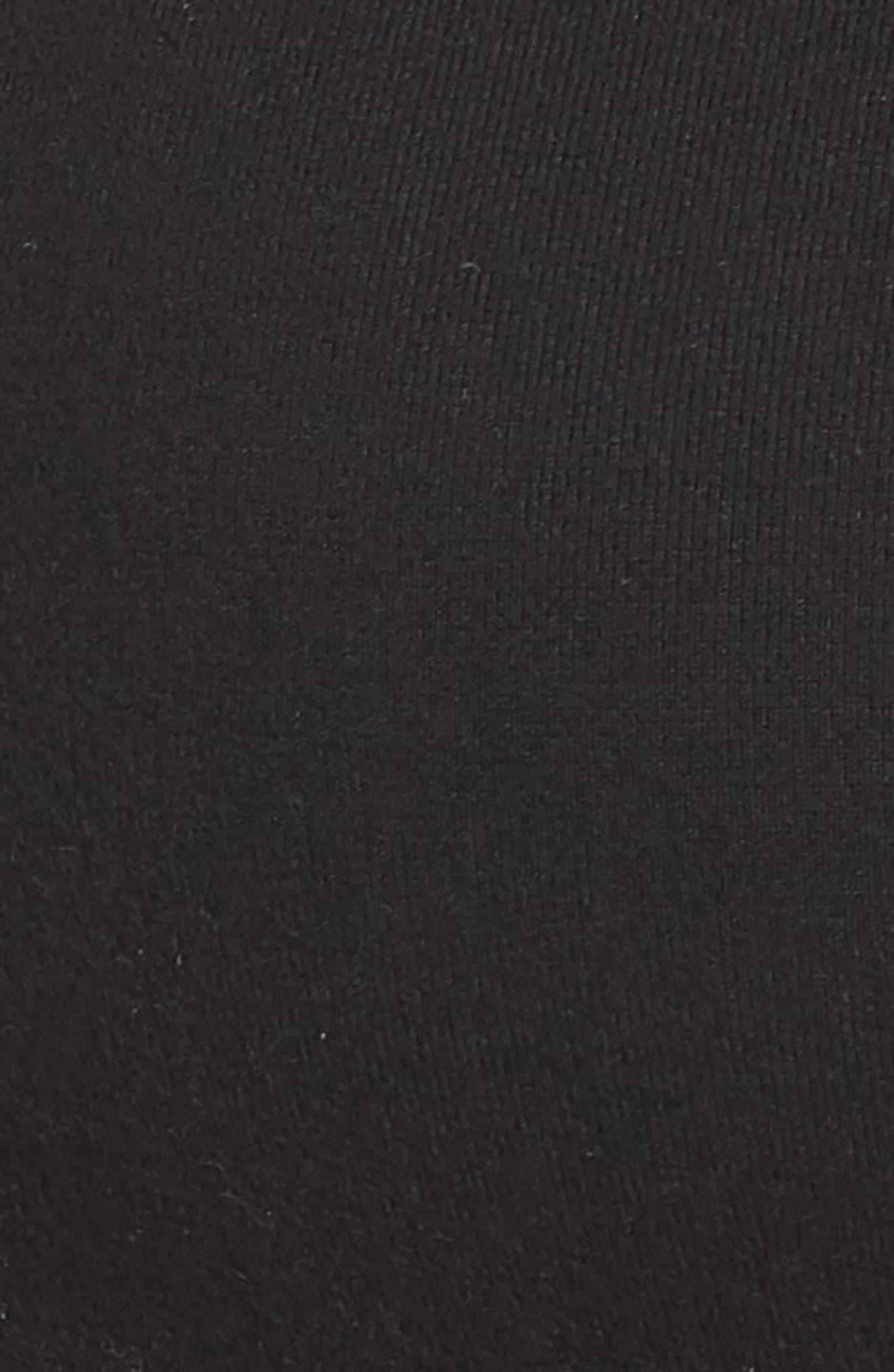 Frill Seeker Sports Bra,                             Alternate thumbnail 9, color,                             Jet Black