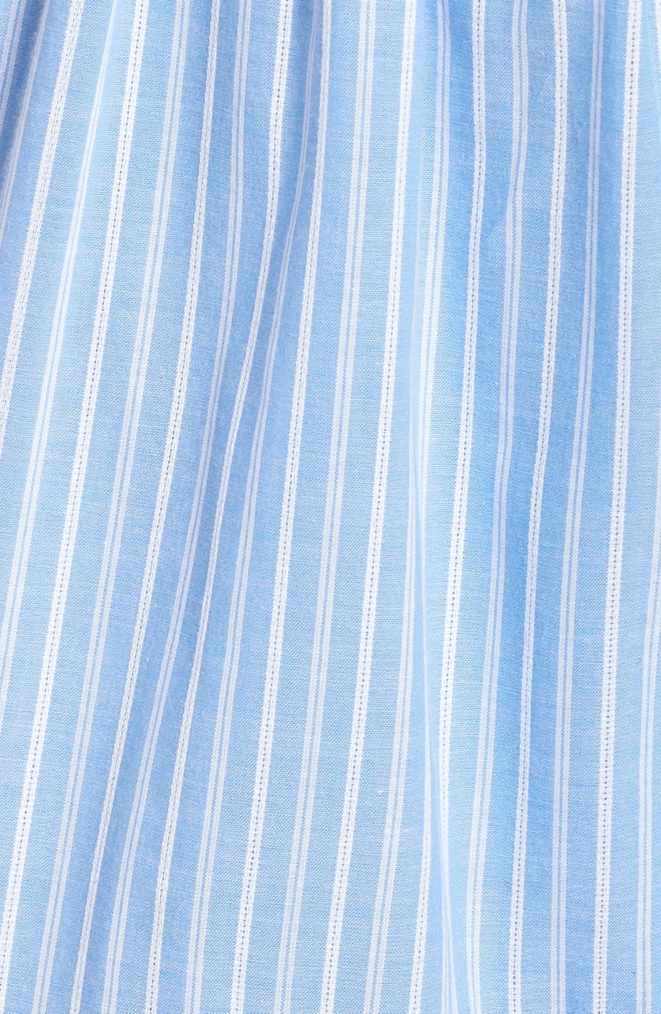 Courtney Rio Stripe Lawn Maxi Dress,                             Alternate thumbnail 7, color,                             Blue/ White