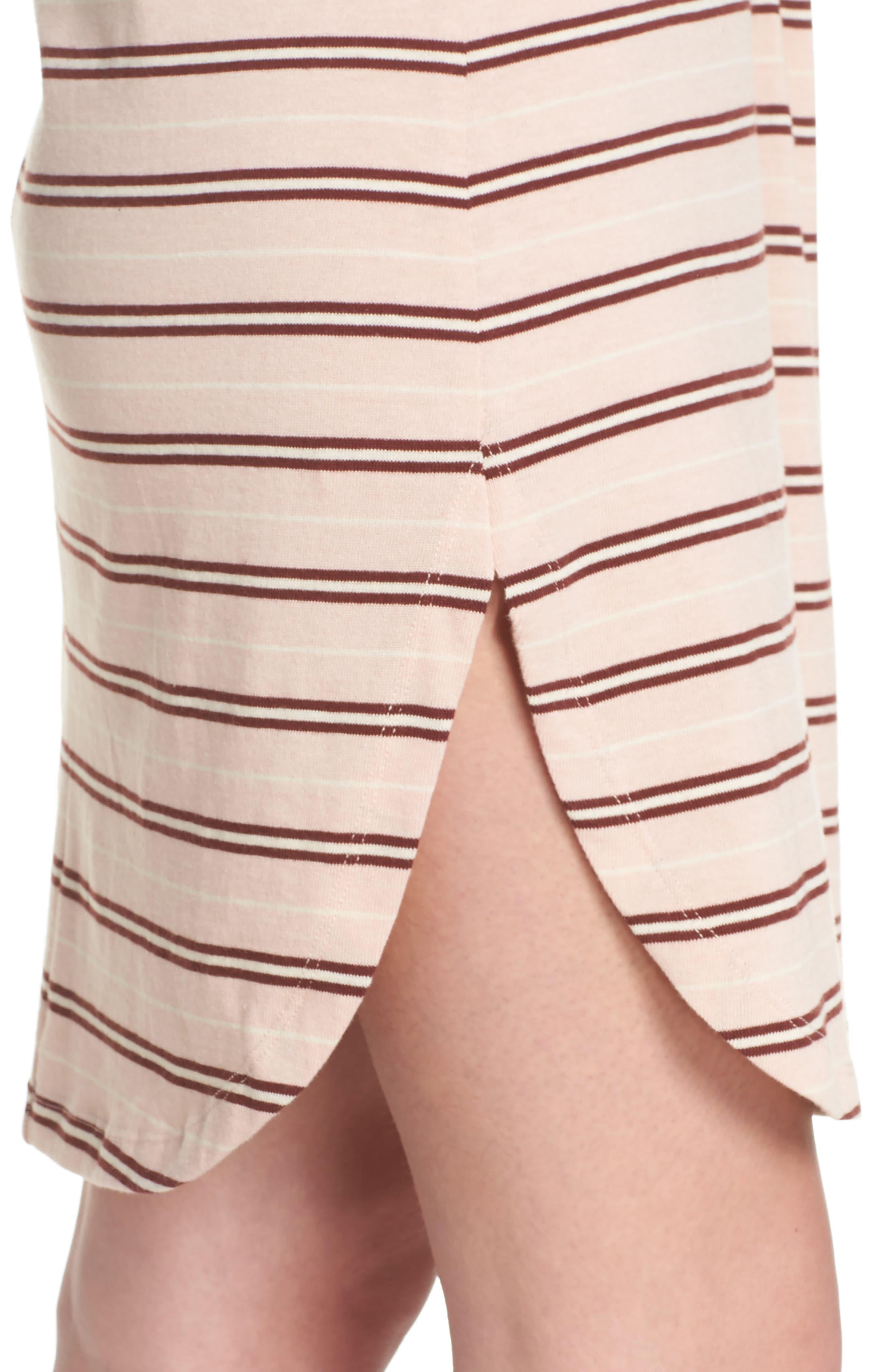 Saul Tunic Dress,                             Alternate thumbnail 4, color,                             Blush 90S Stripe