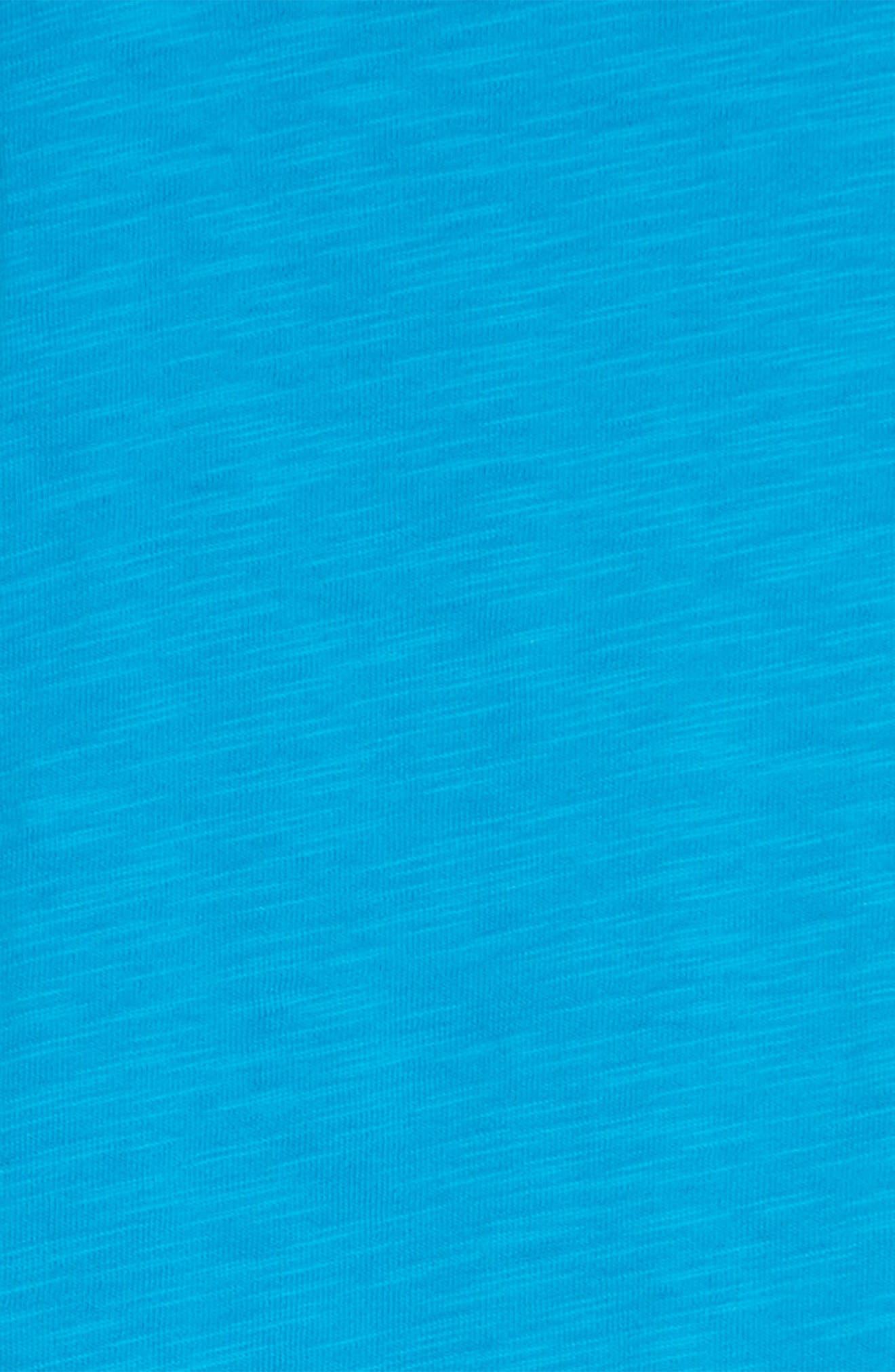 Ruffle Sleeve T-Shirt Dress,                             Alternate thumbnail 3, color,                             Island Blue