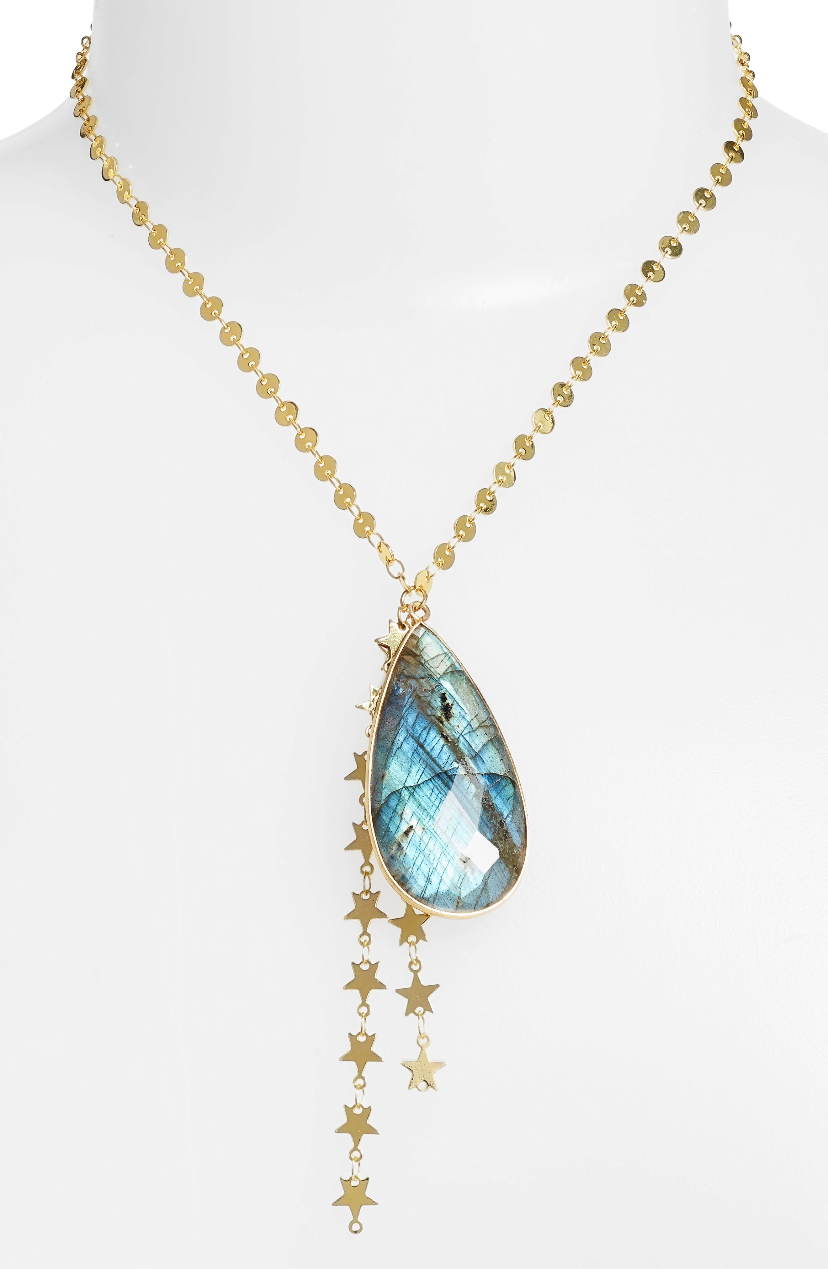 Mad Jewels Cosmic Labradorite Pendant Y-Necklace