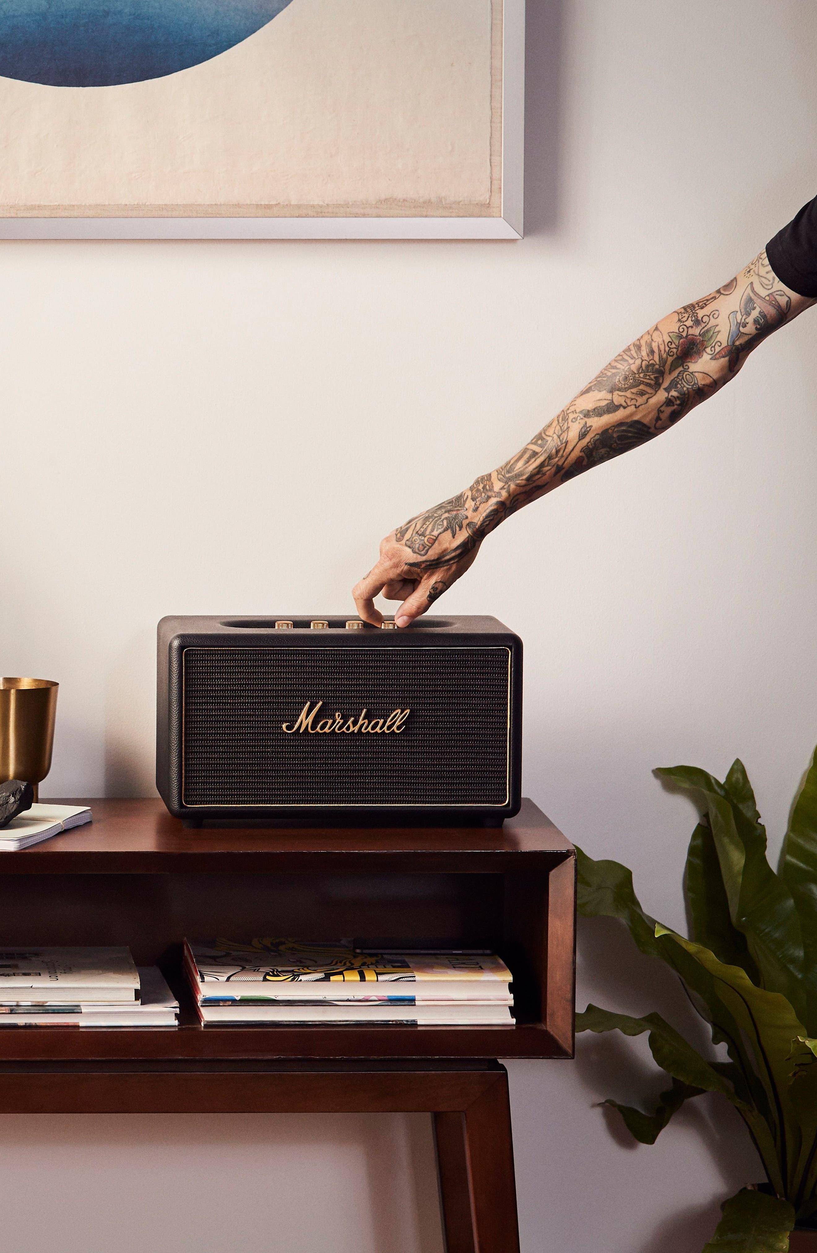 Acton Multi Room WiFi & Bluetooth Speaker,                             Alternate thumbnail 4, color,                             Black