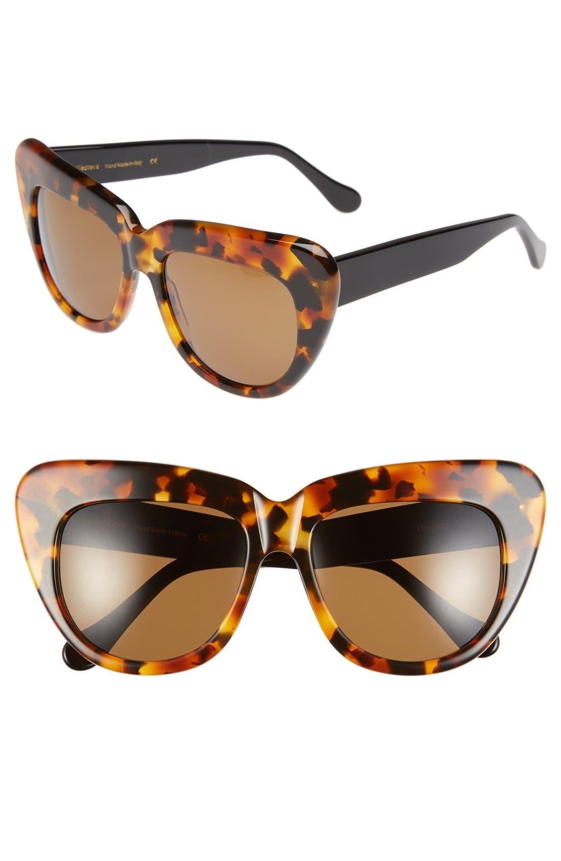 Alternate Image 1 Selected - Illesteva 'Brigitte' 55mm Retro Sunglasses