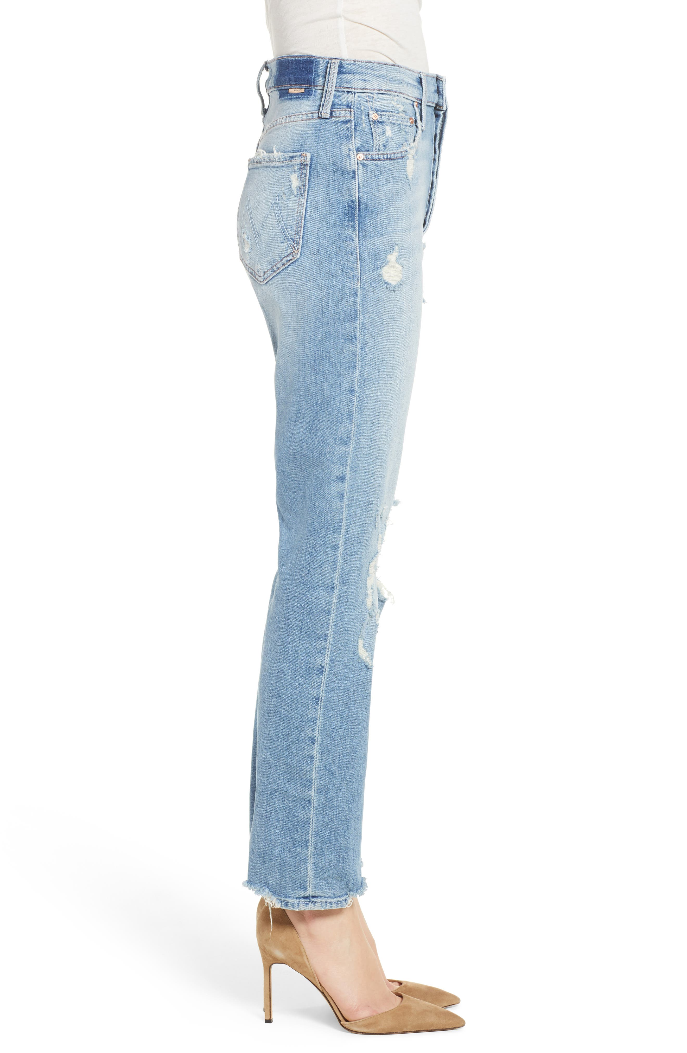The Tomcat Ankle Straight Leg Jeans,                             Alternate thumbnail 3, color,                             Quite Contrary
