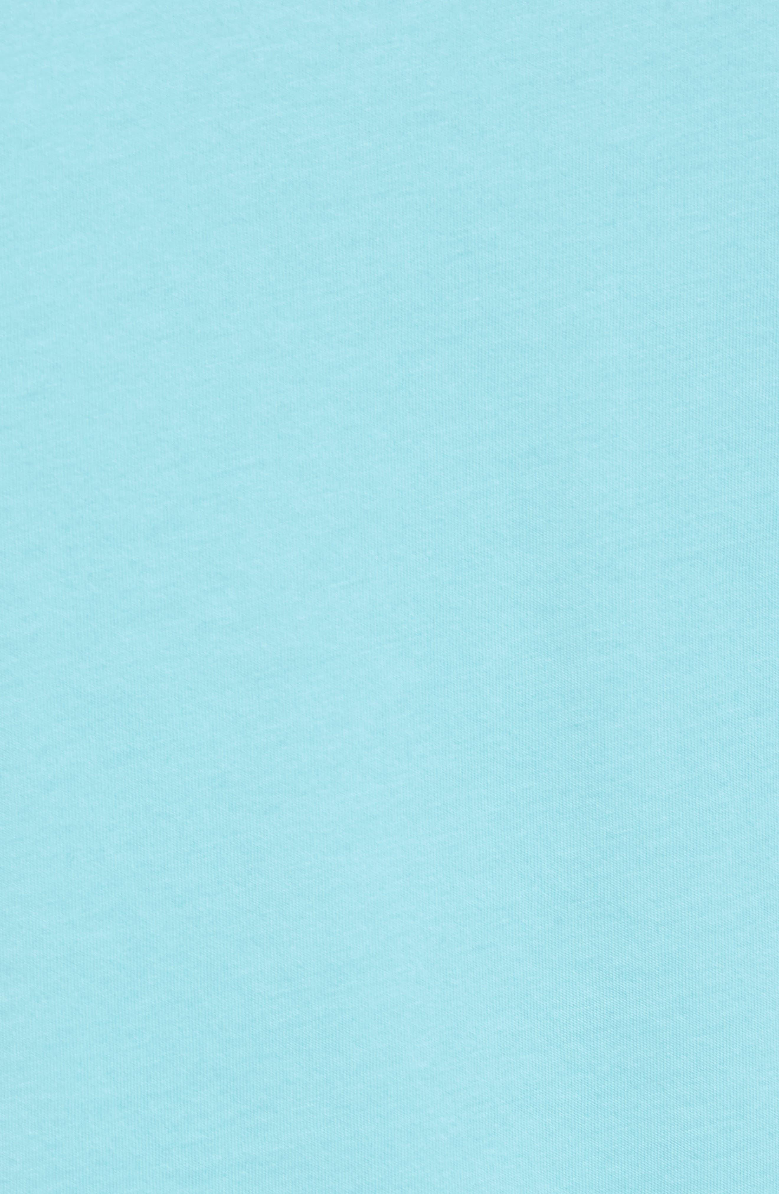 Mercer V-Neck T-Shirt,                             Alternate thumbnail 3, color,                             Aqua