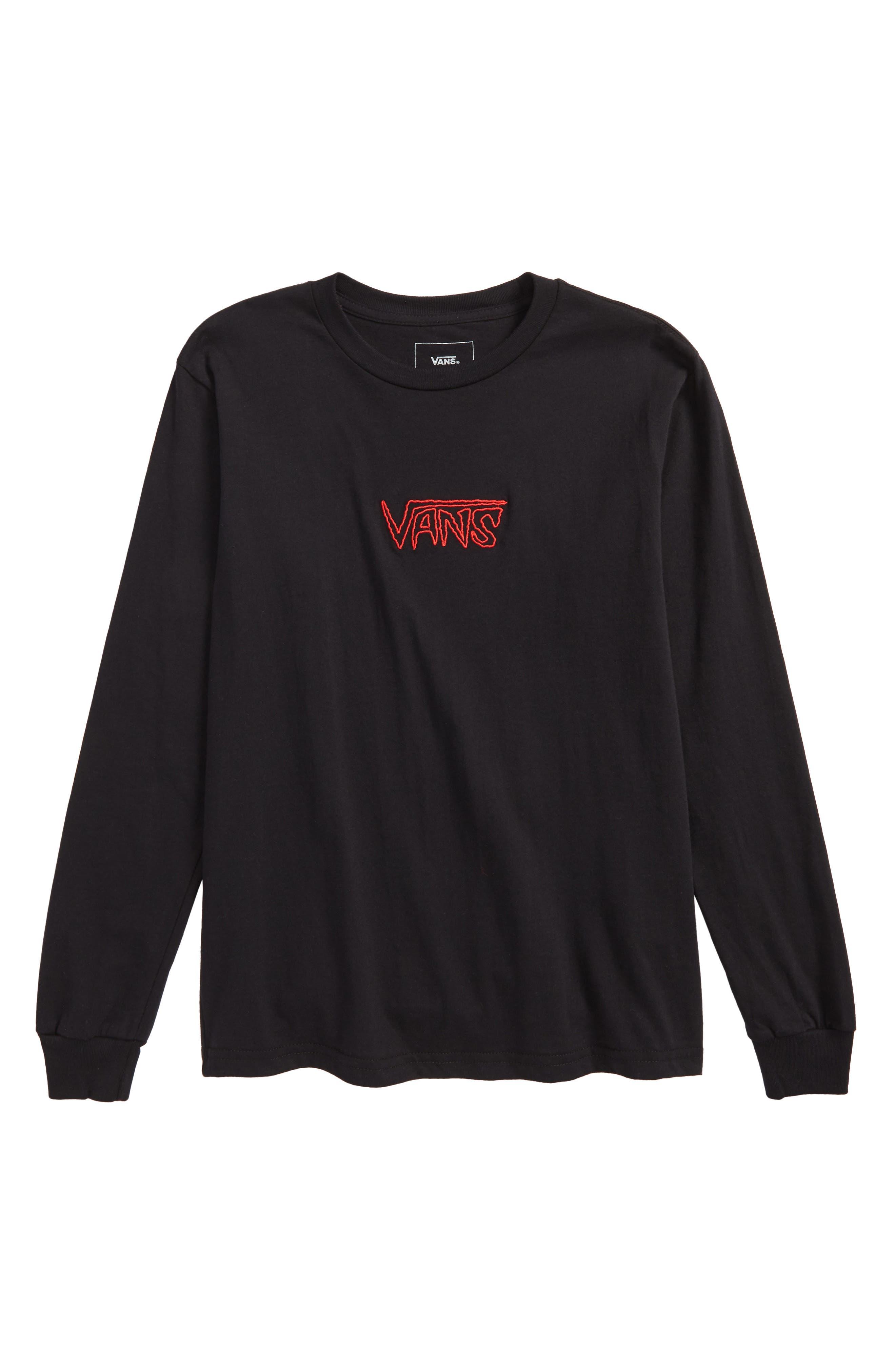 Sketch Tape Logo T-Shirt,                             Main thumbnail 1, color,                             Black