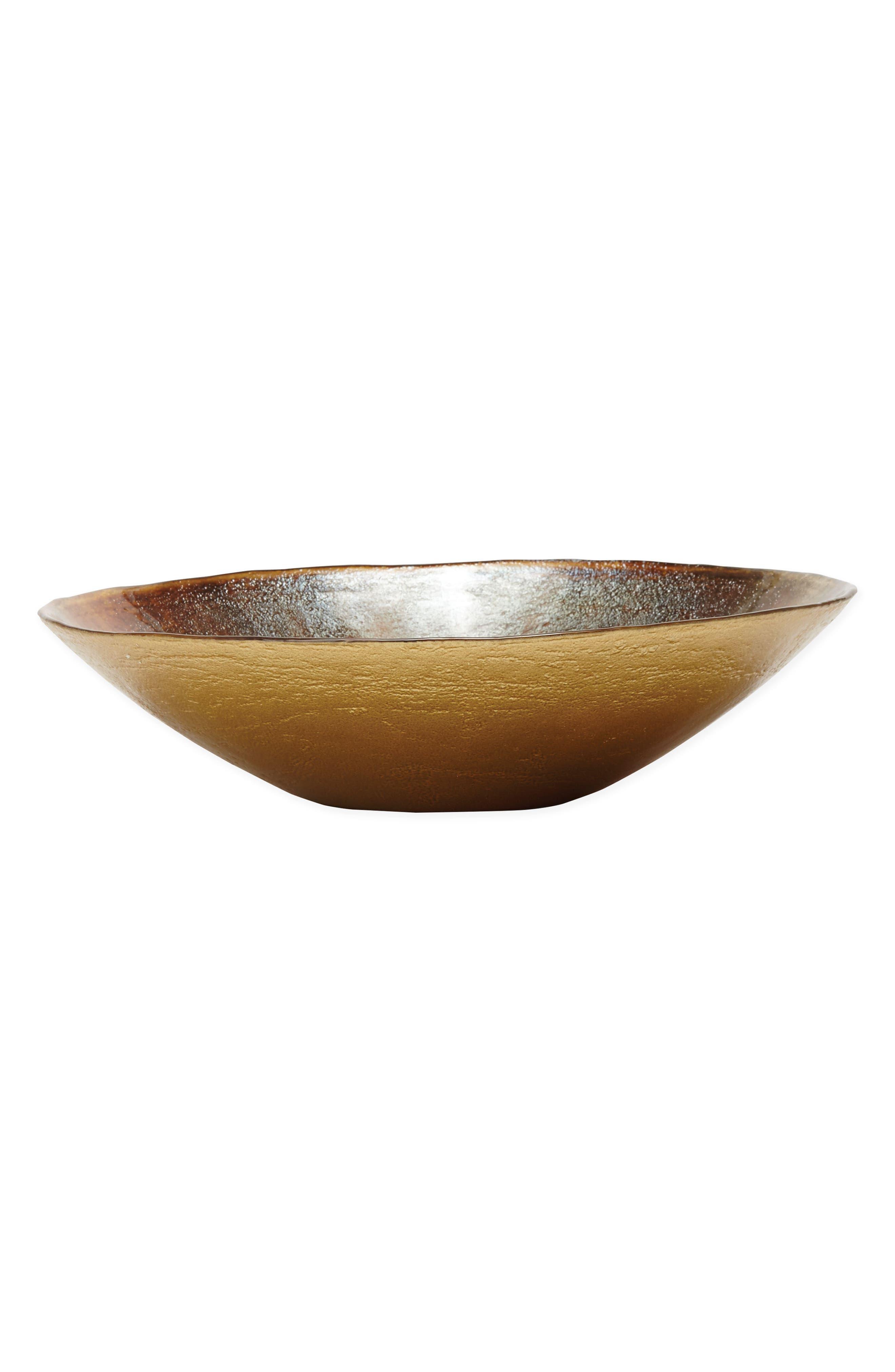 Earth Glass Bowl,                             Alternate thumbnail 2, color,                             Brown/ Gold - Medium