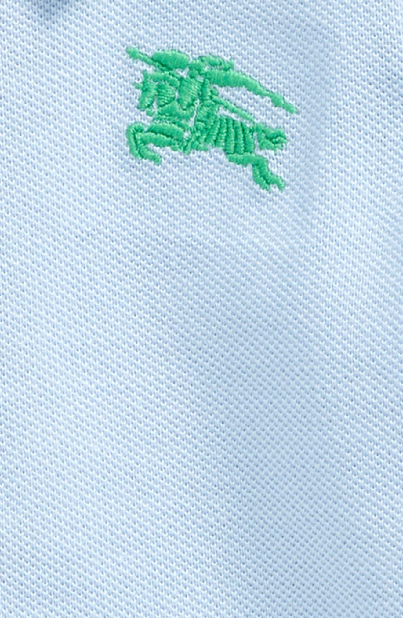 Palmer Cotton Piqué Polo,                             Alternate thumbnail 2, color,                             Sky Blue