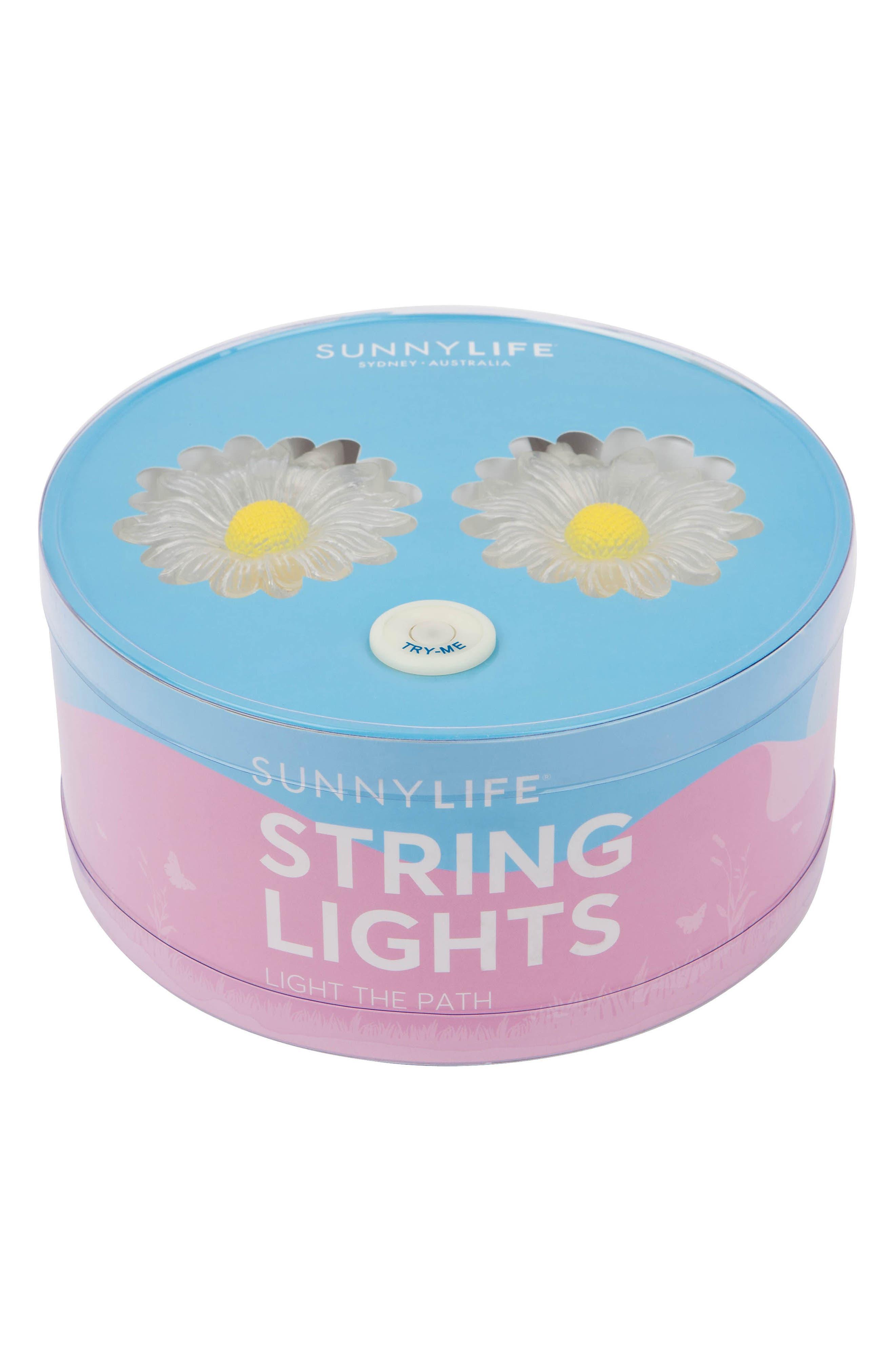 Daisy Battery Powered String Lights,                             Alternate thumbnail 4, color,                             White