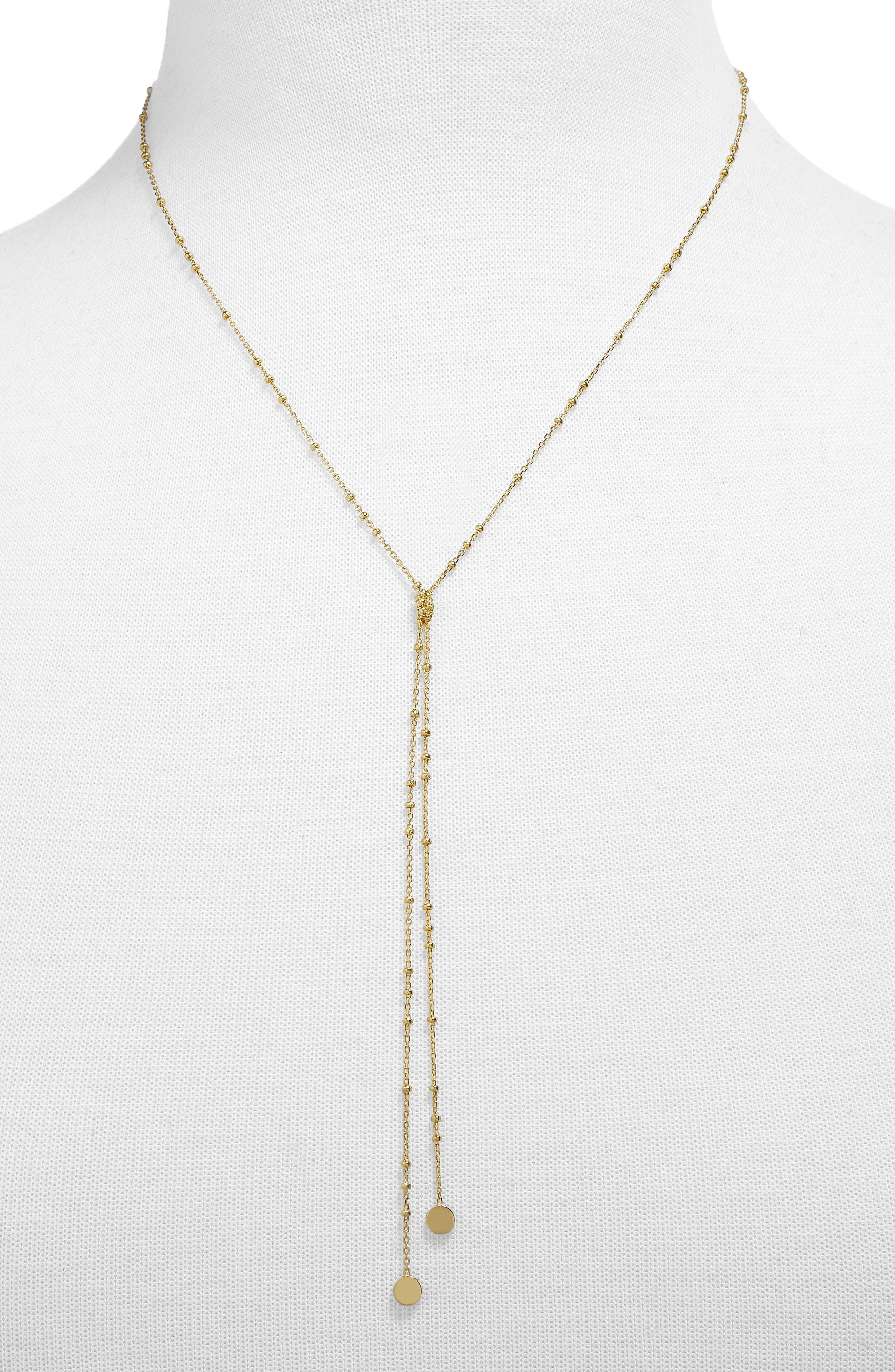 Palla Lariat Necklace,                             Main thumbnail 1, color,                             Gold