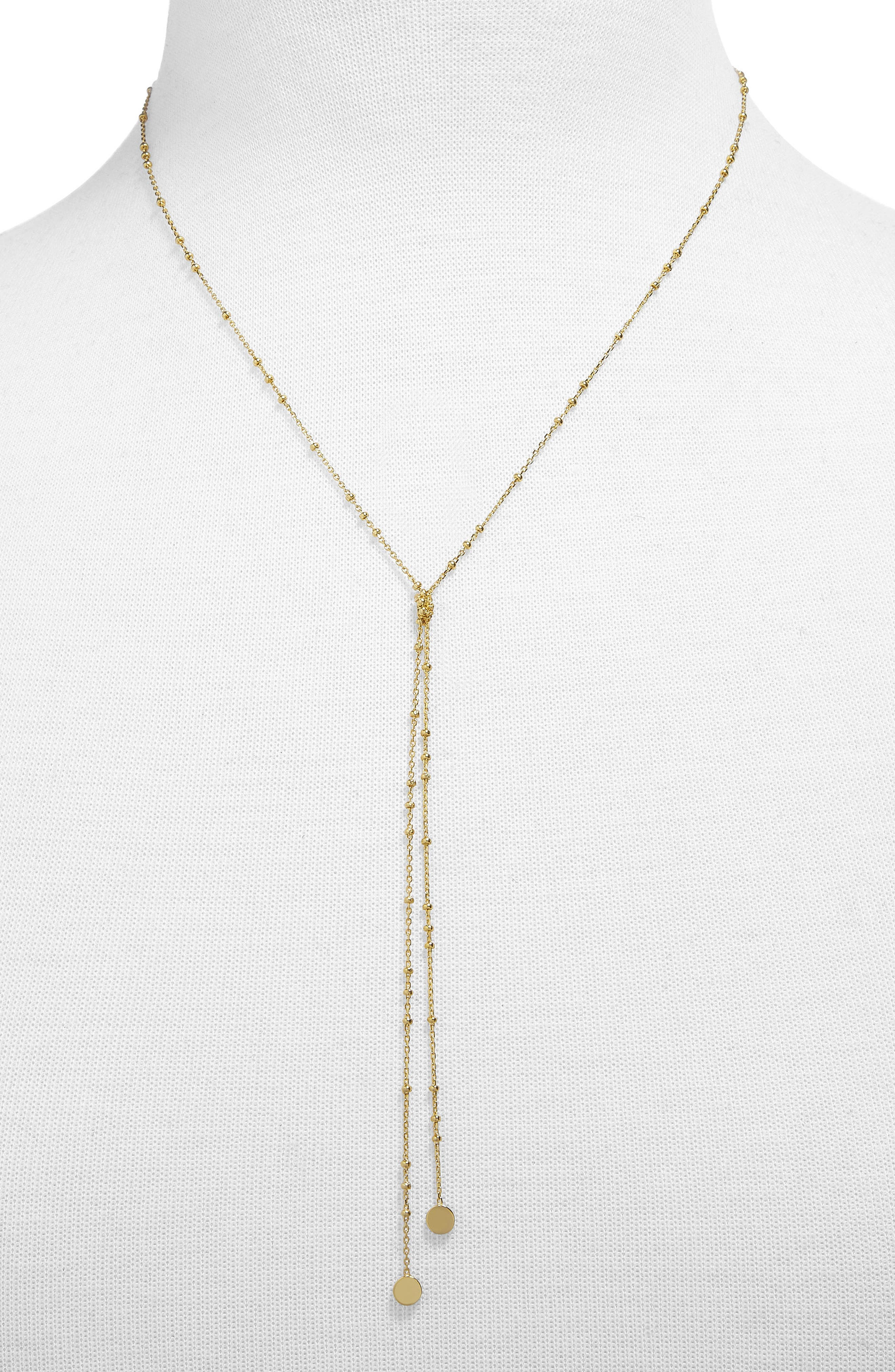 Palla Lariat Necklace,                         Main,                         color, Gold