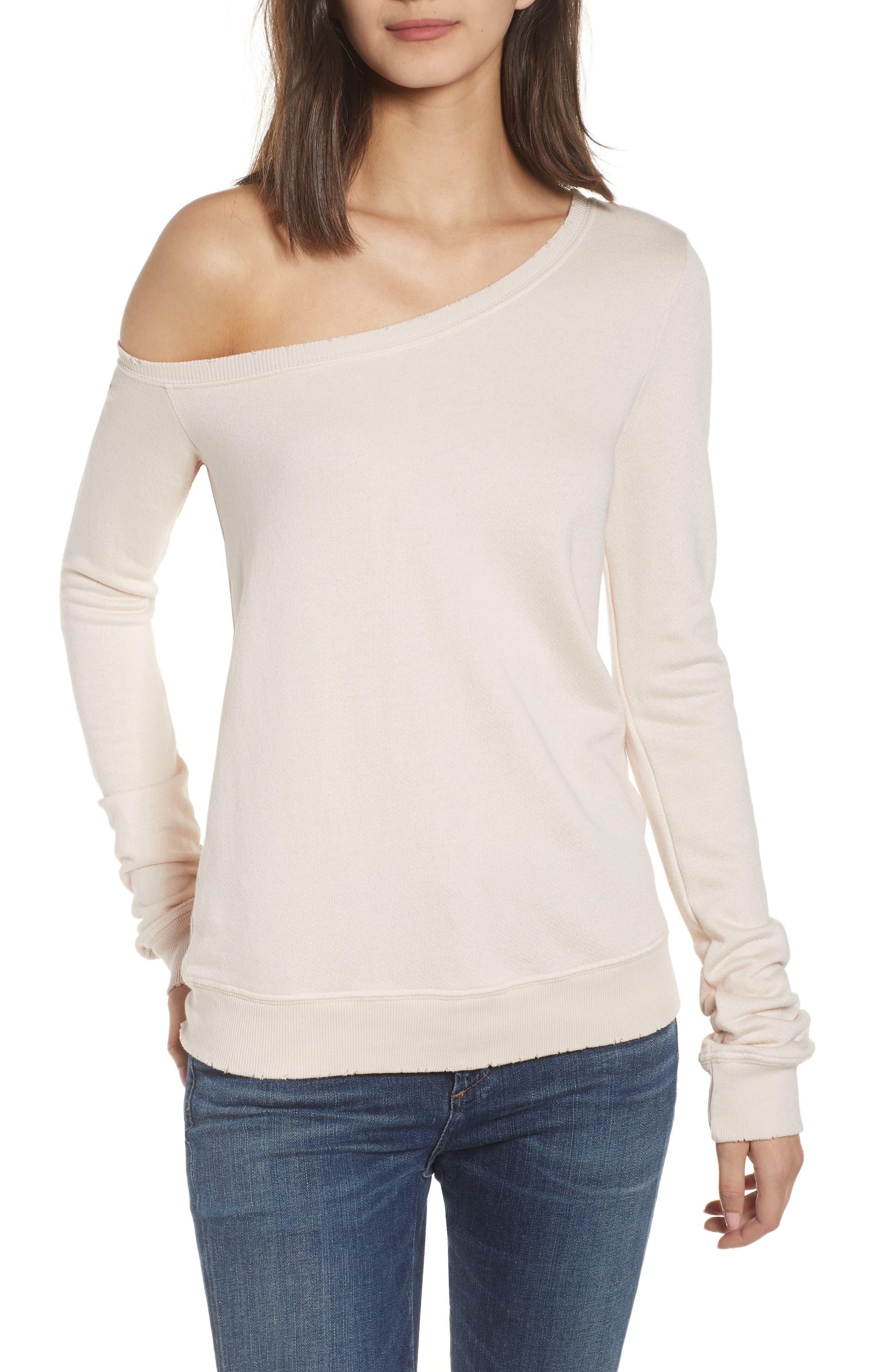 n:PHILANTHROPY Walker One-Shoulder Sweatshirt
