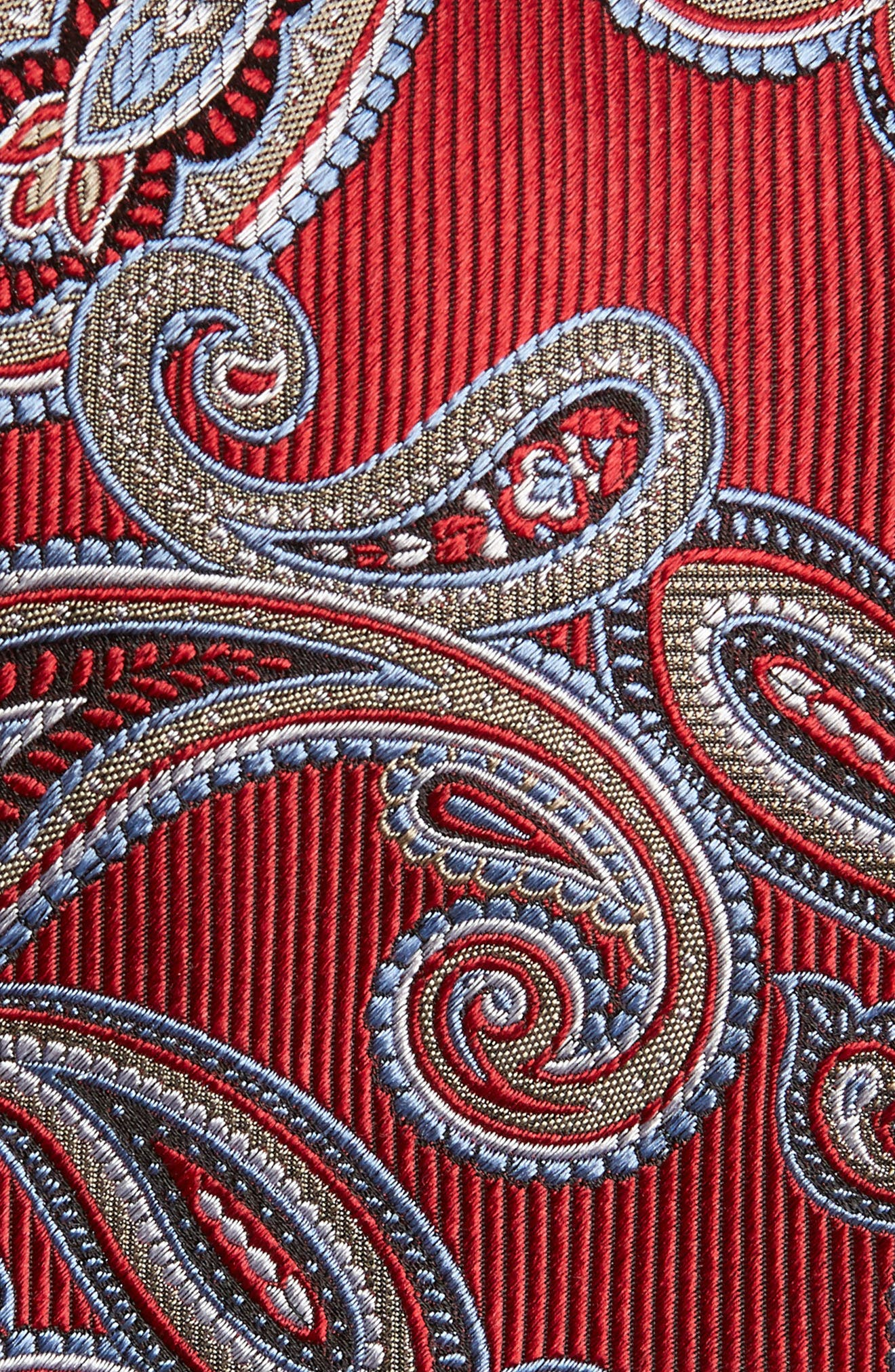 Paisley Silk Tie,                             Alternate thumbnail 2, color,                             Red