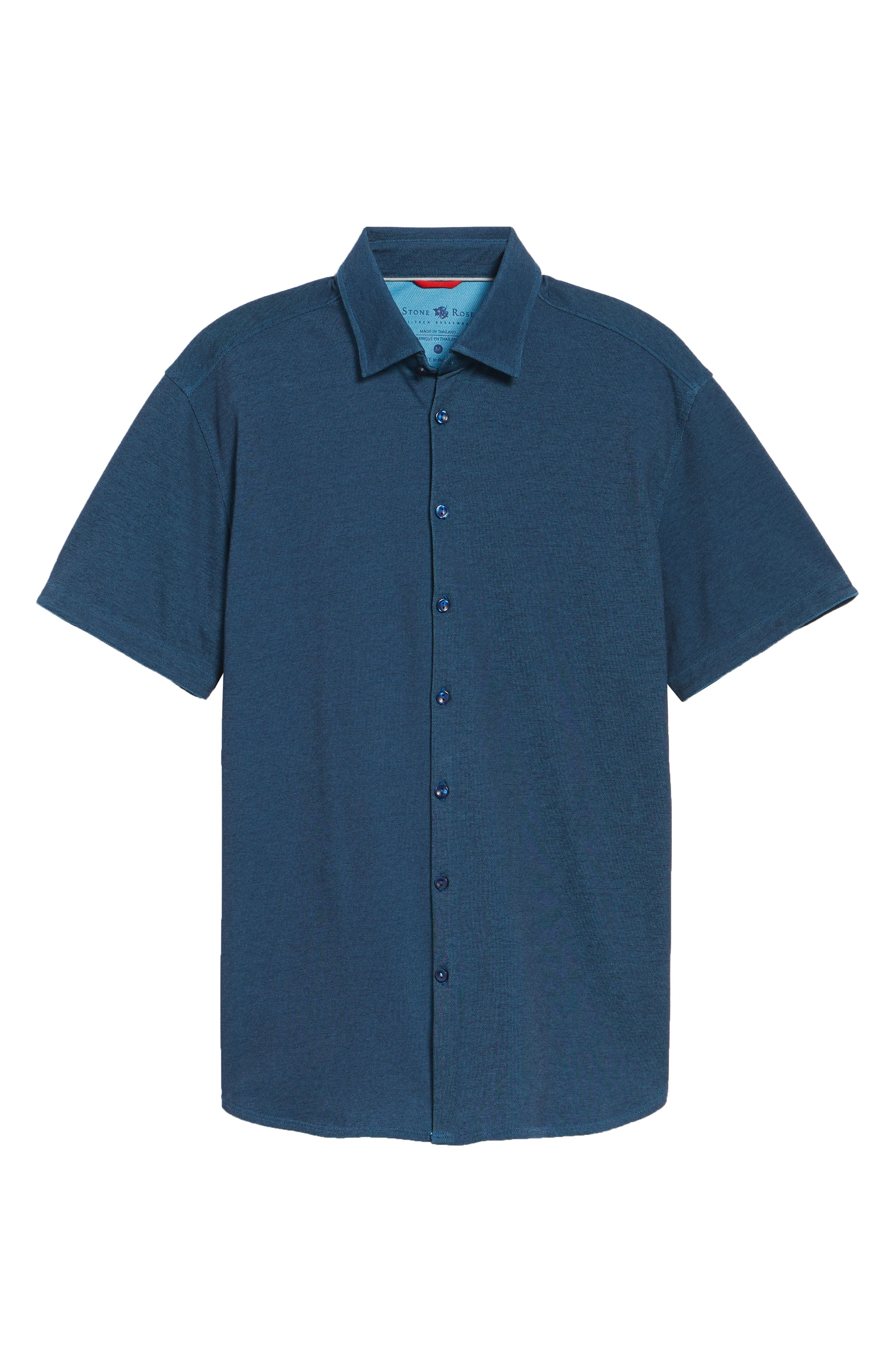 Contemporary Fit Tech Knit Sport Shirt,                             Alternate thumbnail 6, color,                             Navy