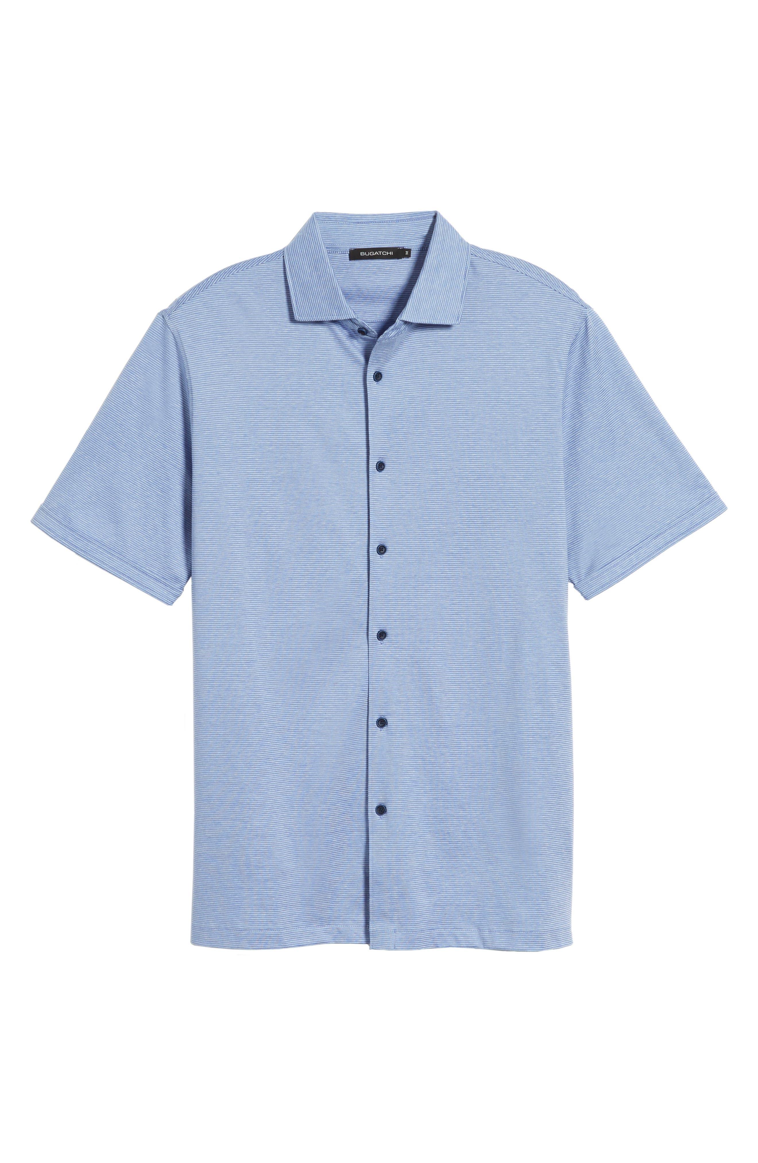 Regular Fit Knit Sport Shirt,                             Alternate thumbnail 6, color,                             Lilac
