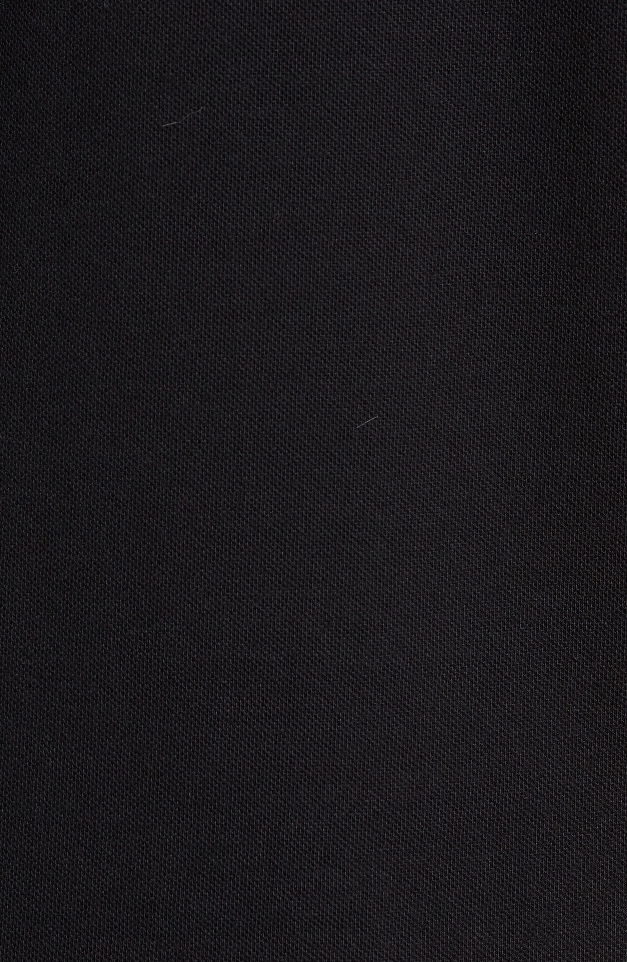 Colorblock Piqué Polo,                             Alternate thumbnail 5, color,                             Black
