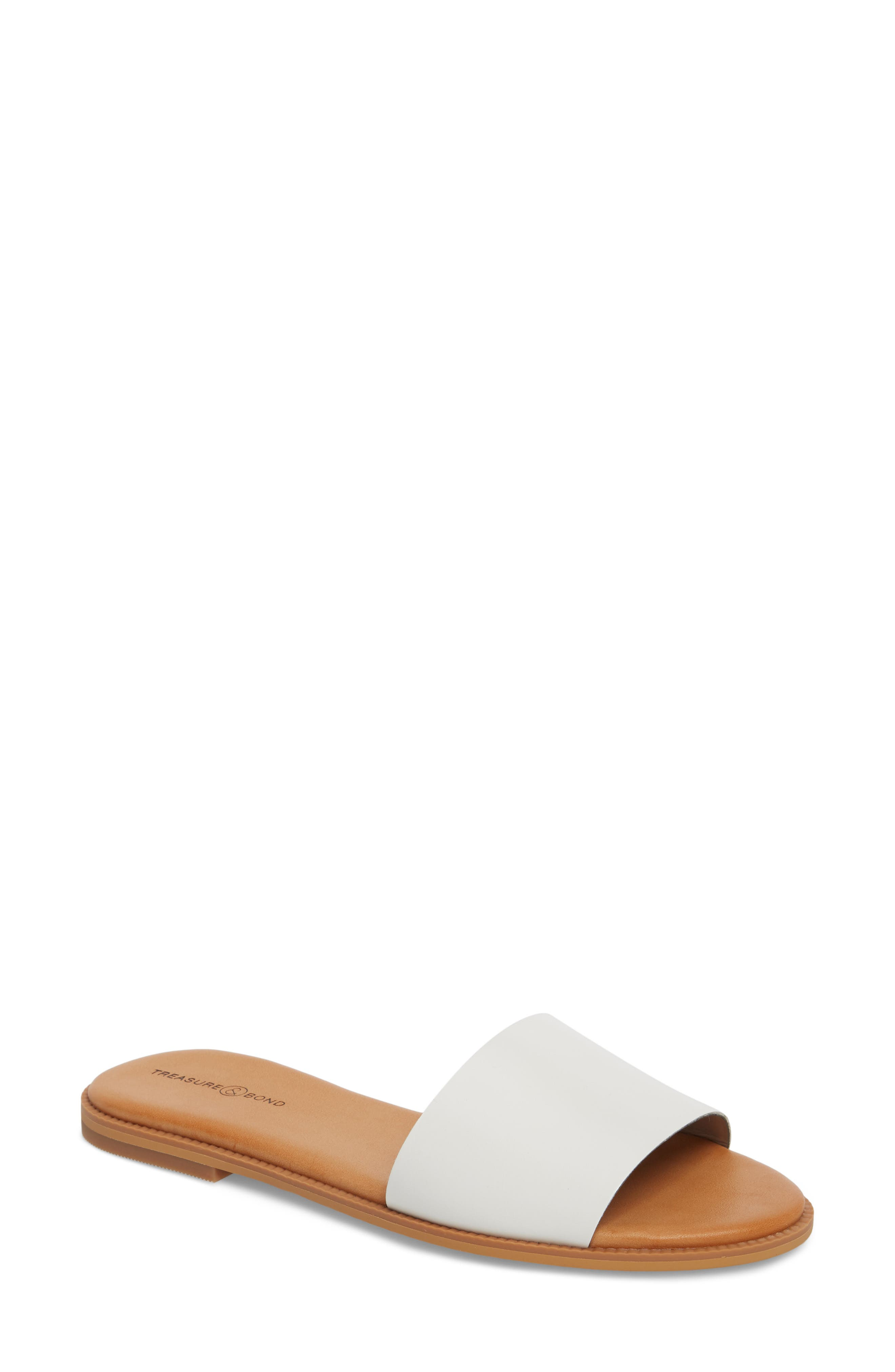 Alternate Image 1 Selected - Treasure & Bond Mere Flat Slide Sandal (Women)
