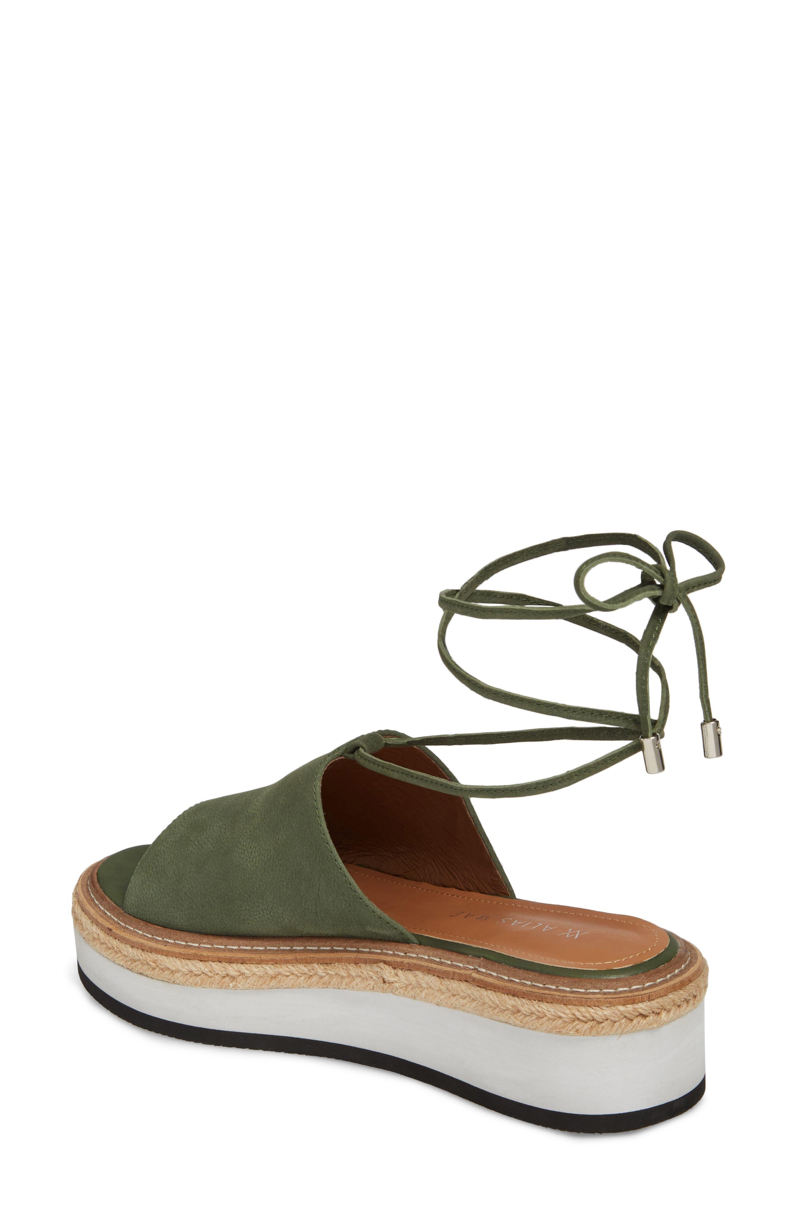 Nickel Platform Sandal,                             Alternate thumbnail 2, color,                             Khaki Nubuck Leather