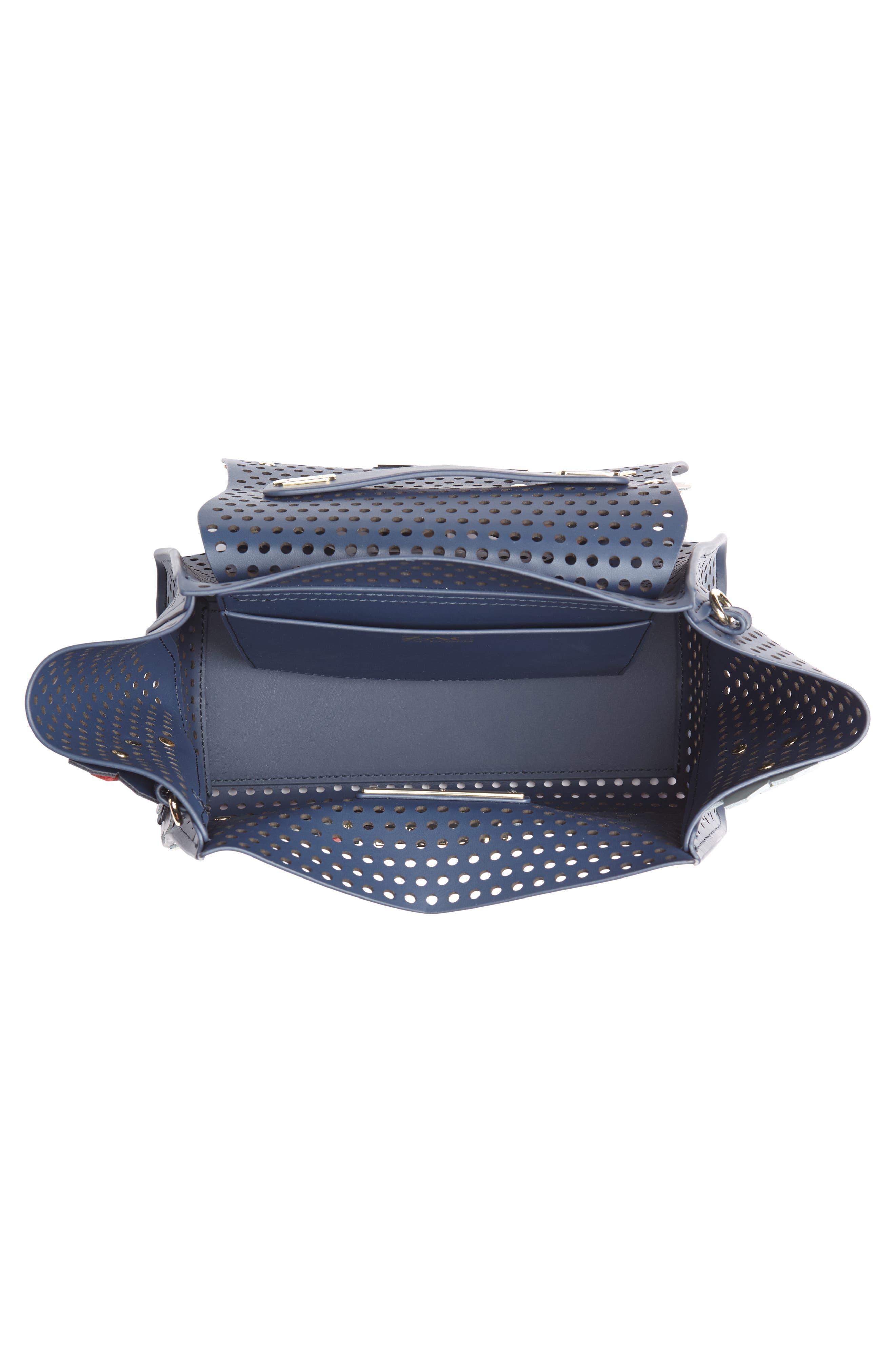 Eartha Kit Convertible Calfskin Leather Backpack,                             Alternate thumbnail 5, color,                             Blue/ Rainbow