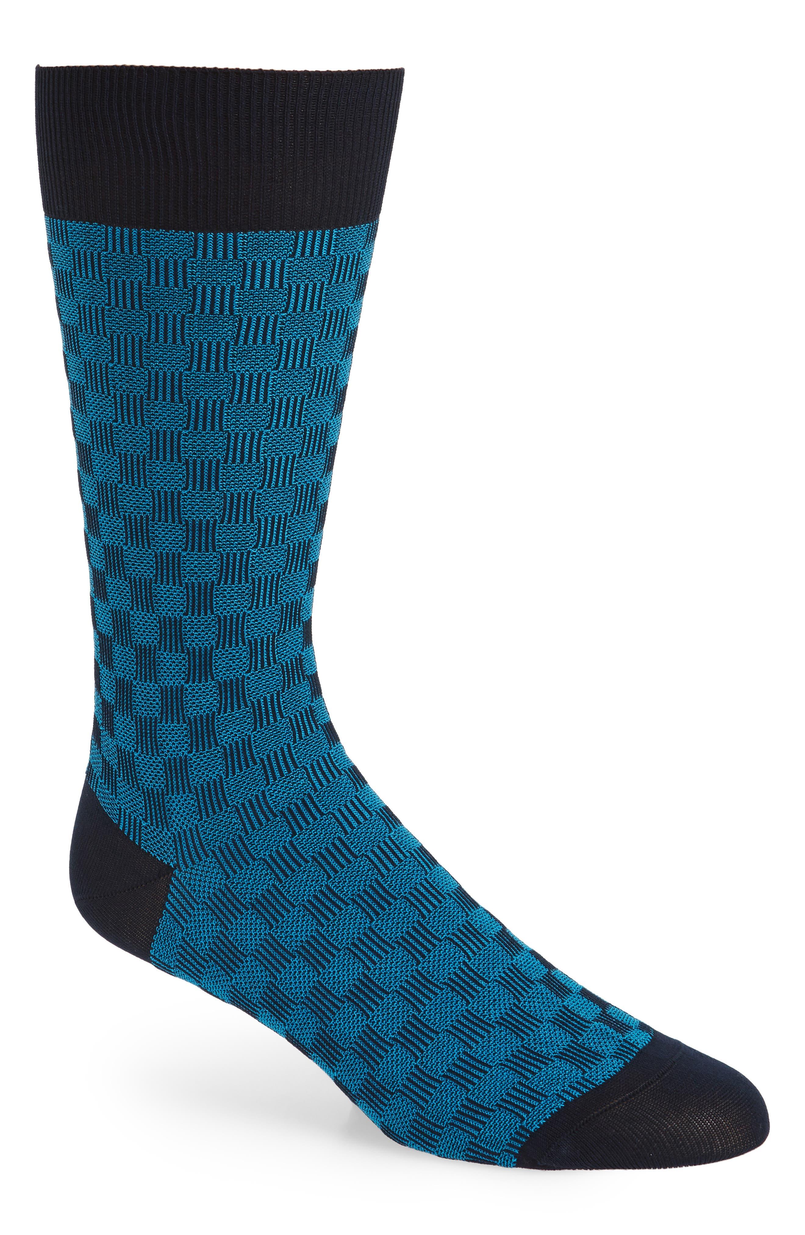 Patchwork Socks,                             Main thumbnail 1, color,                             Navy