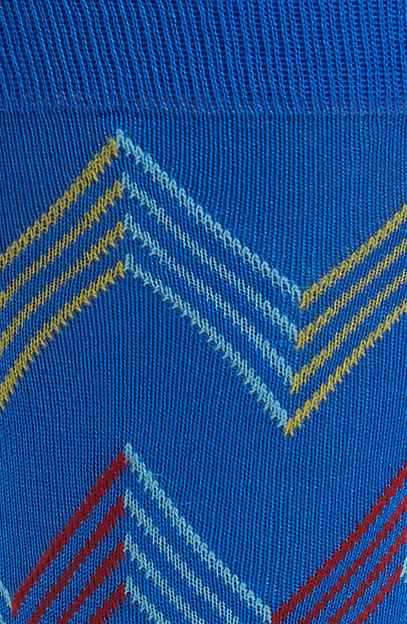 Zigzag Socks,                             Alternate thumbnail 2, color,                             Sapphire