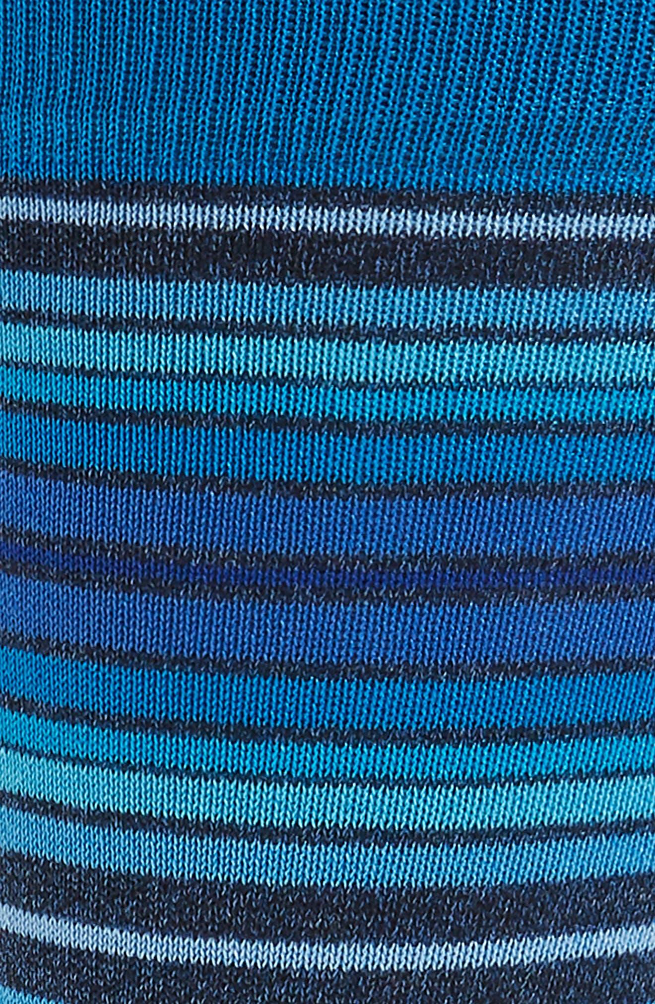 Cotton Blend Socks,                             Alternate thumbnail 2, color,                             Aqua