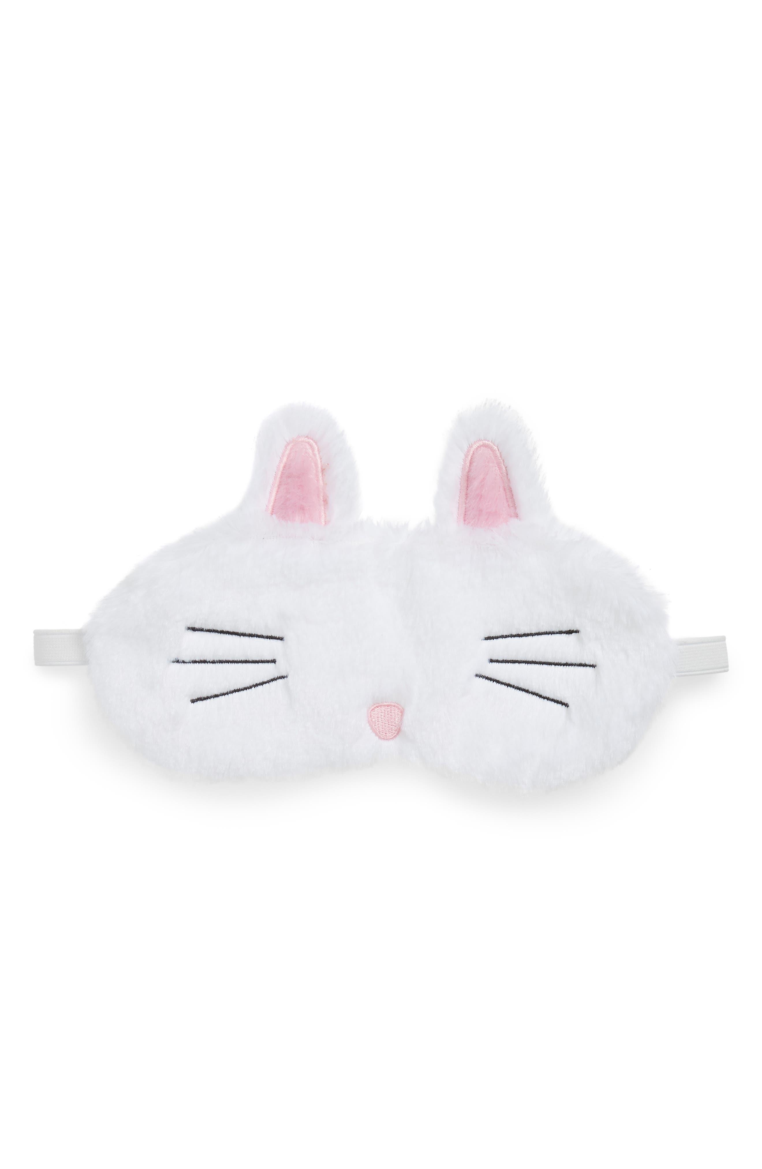 Bunny Spa Eye Mask,                         Main,                         color, White
