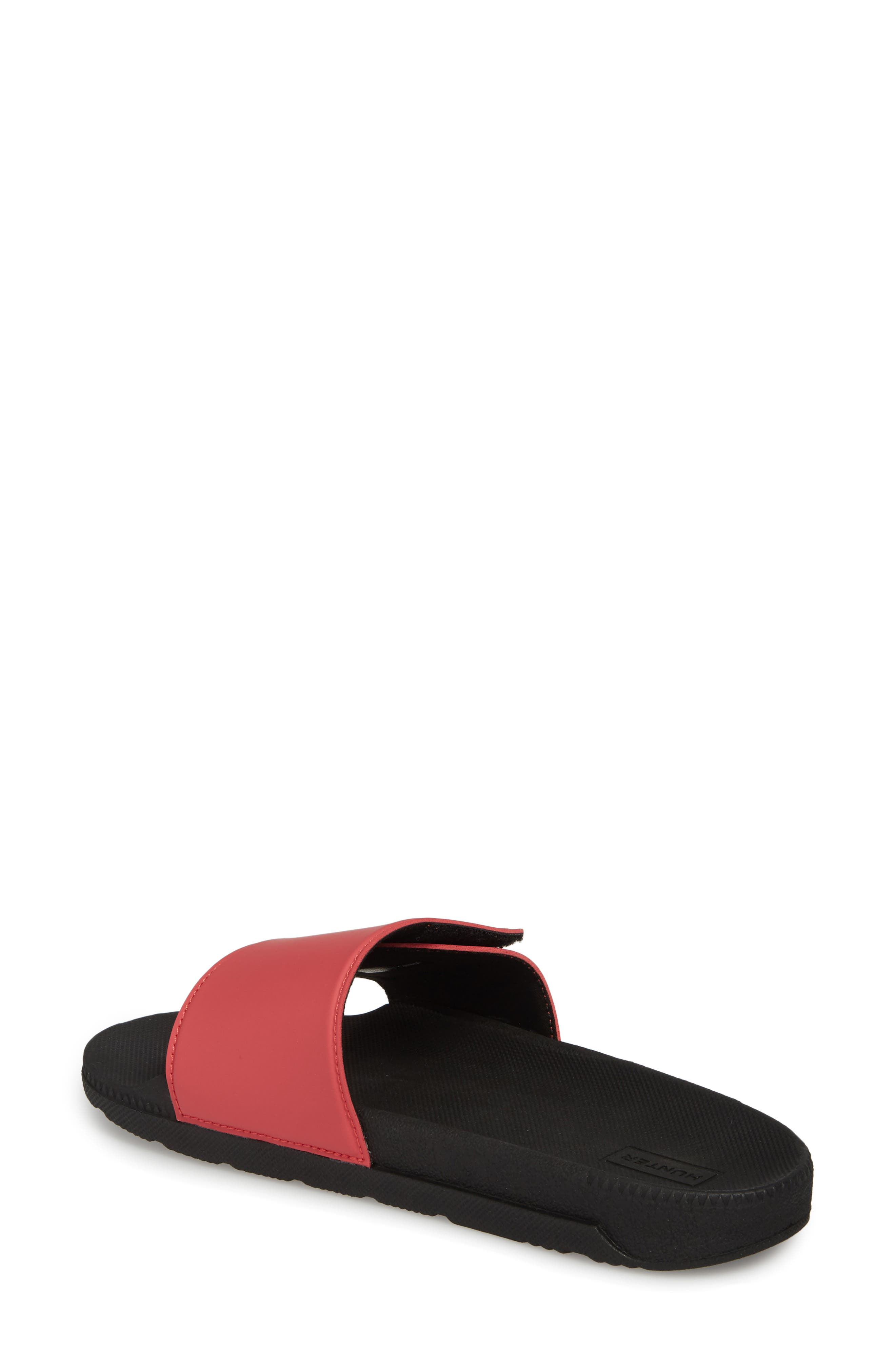 Original Adjustable Slide Sandal,                             Alternate thumbnail 2, color,                             Black/ Peony