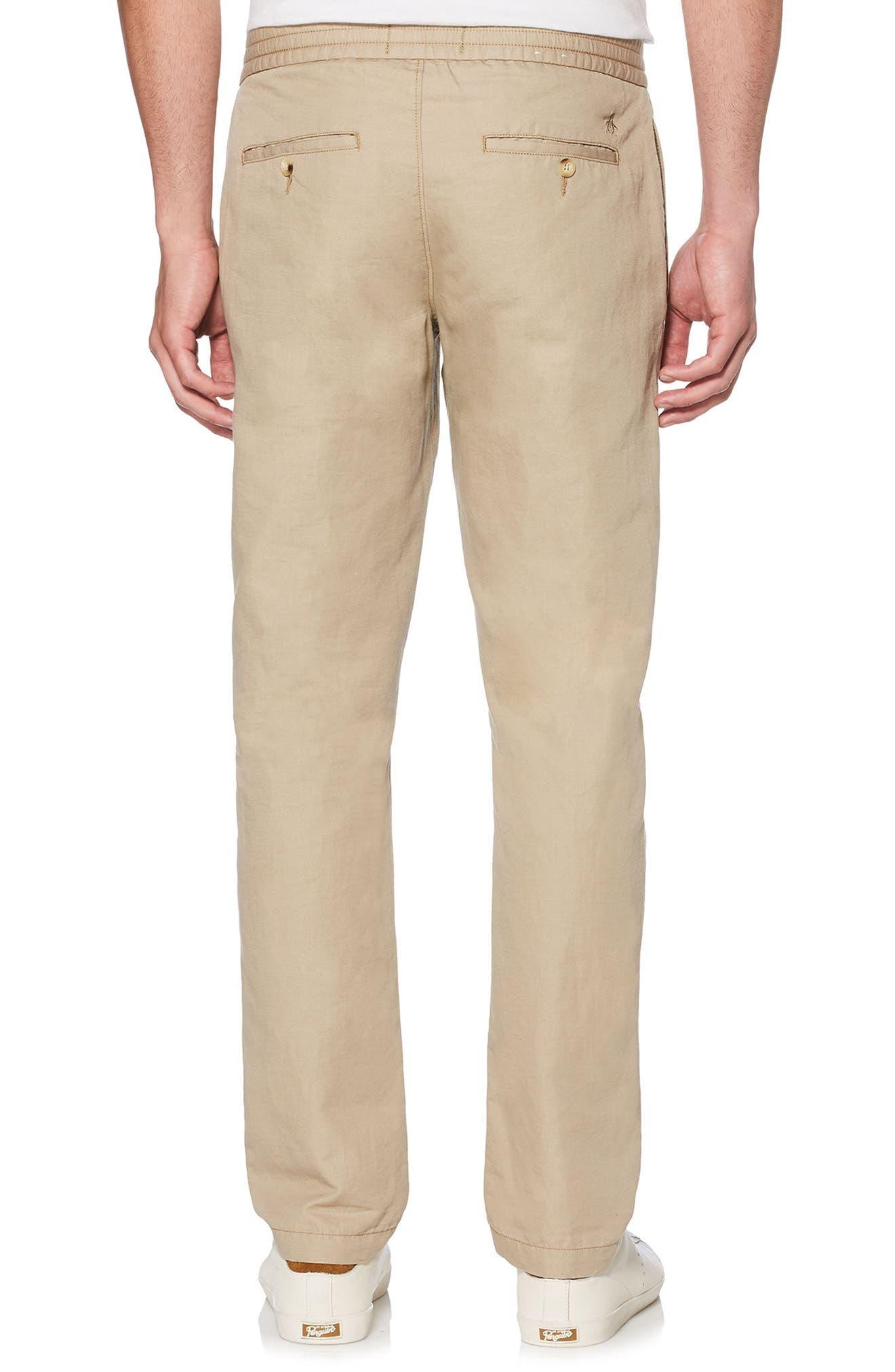Linen Blend Pants,                             Alternate thumbnail 2, color,                             Crockery