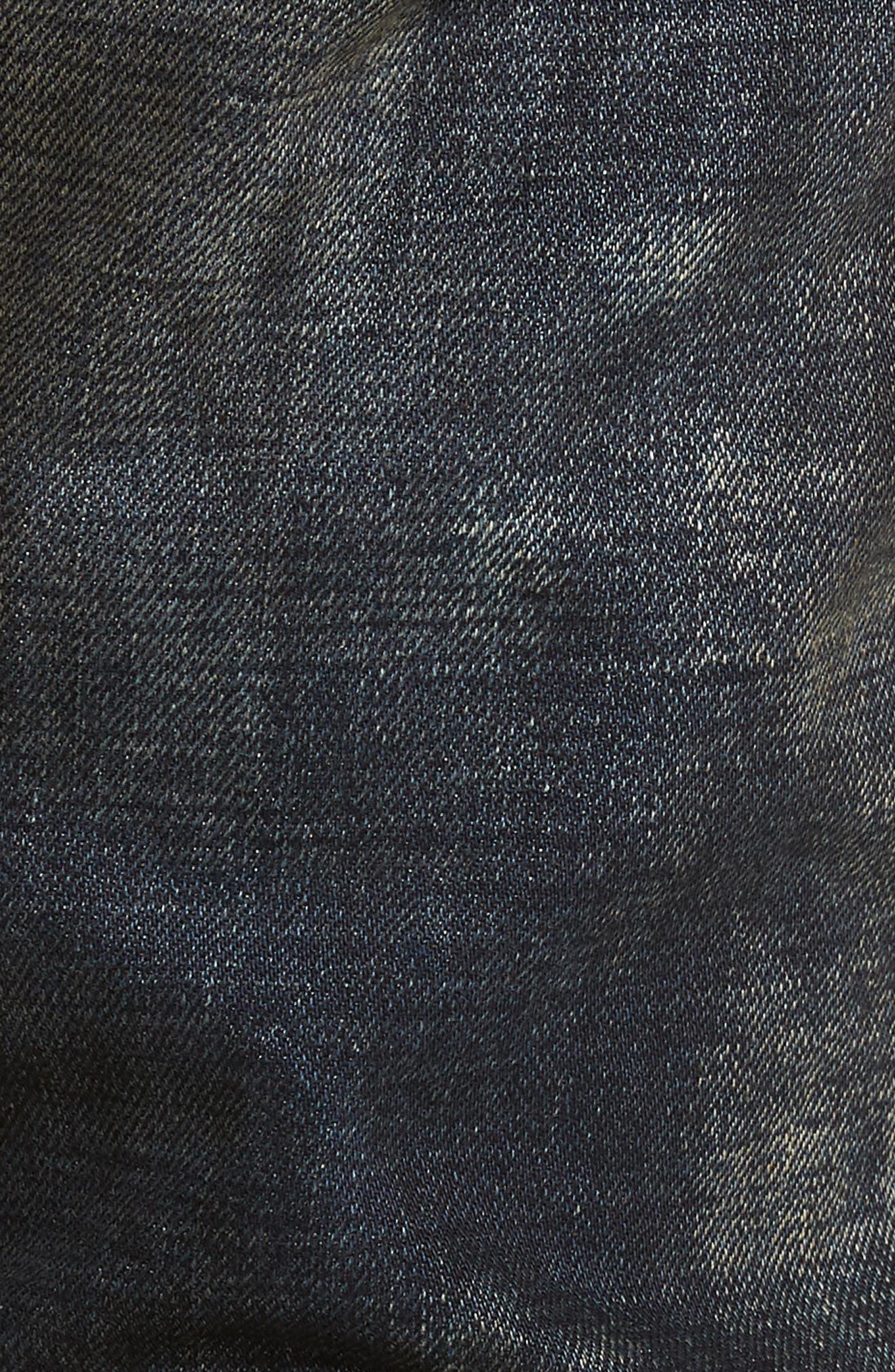 Demon Slim Straight Fit Jeans,                             Alternate thumbnail 5, color,                             Linger