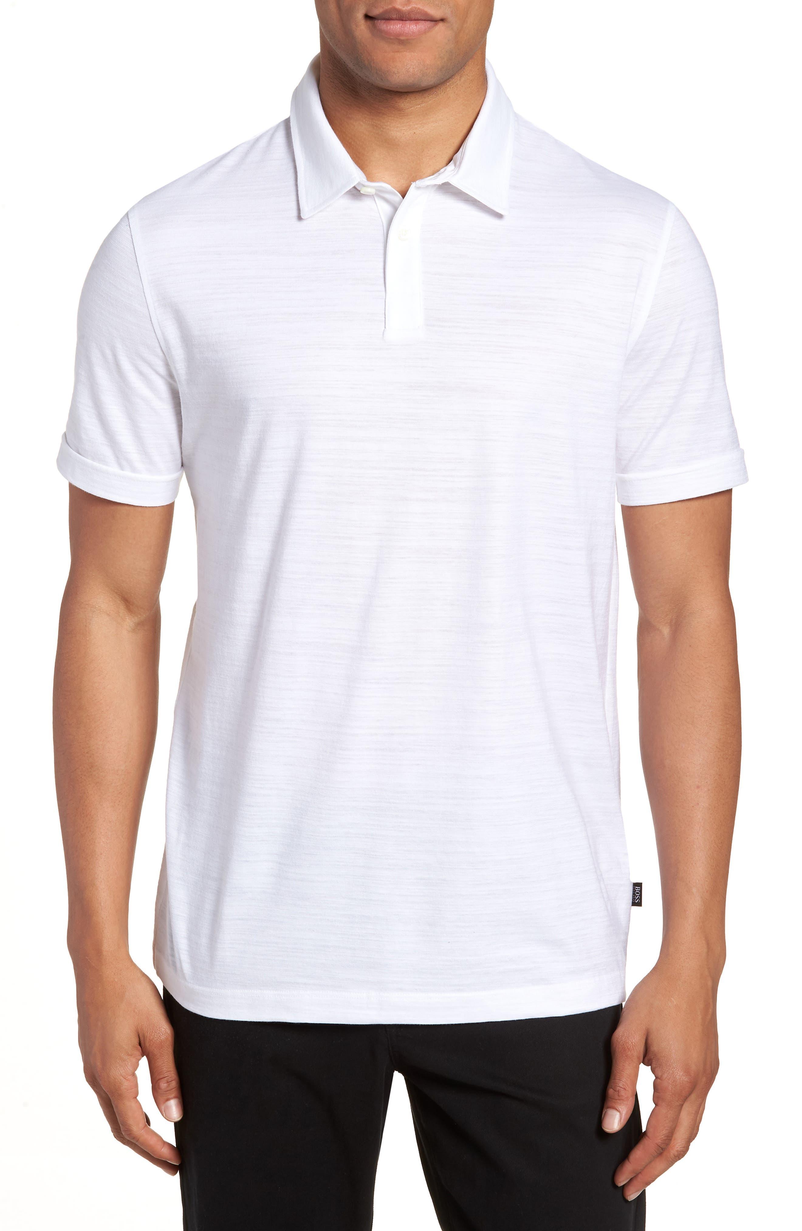 Main Image - BOSS Press Flame Slim Fit Polo Shirt