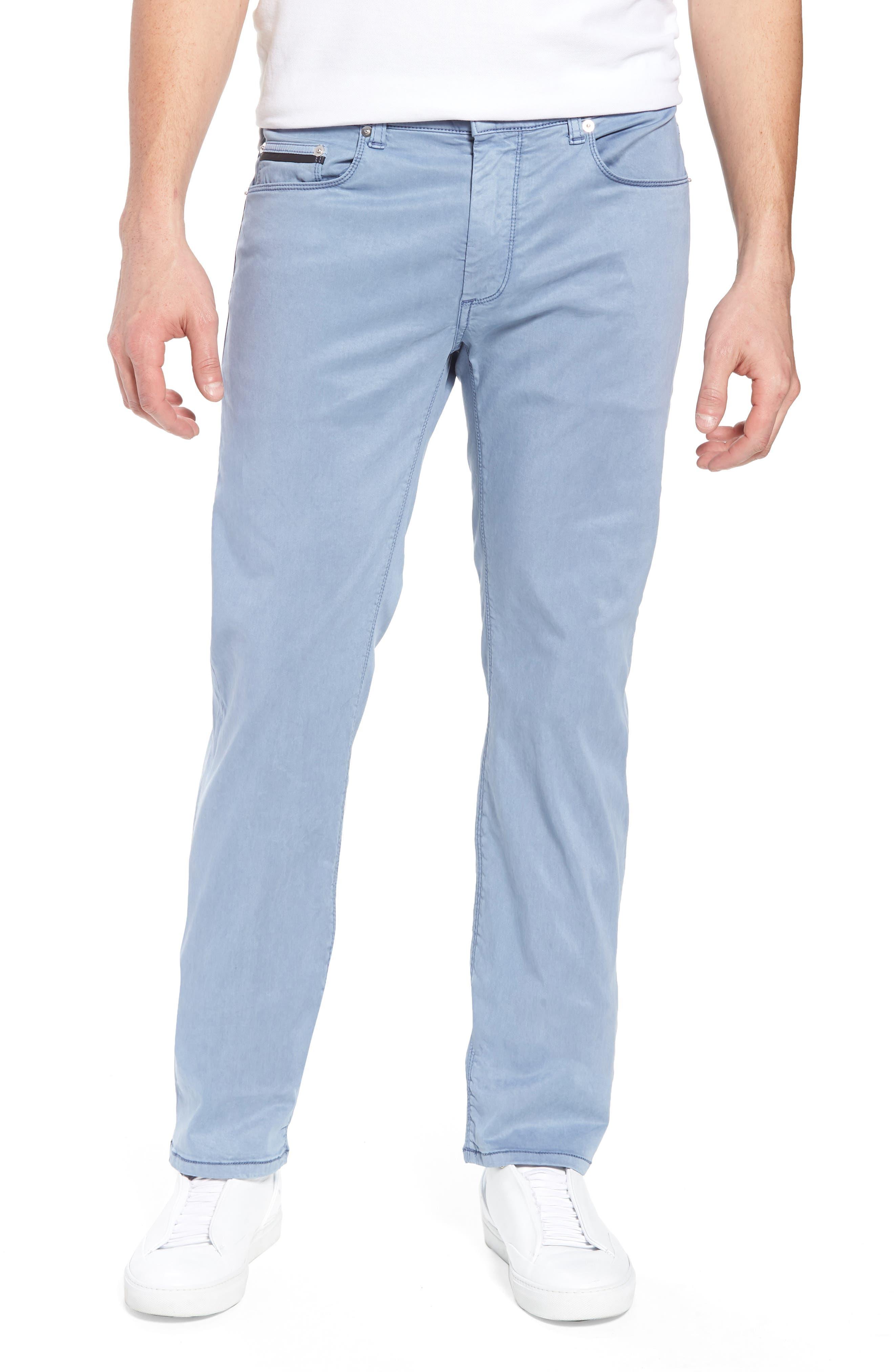 Trim Fit Pants,                         Main,                         color, Cobalt
