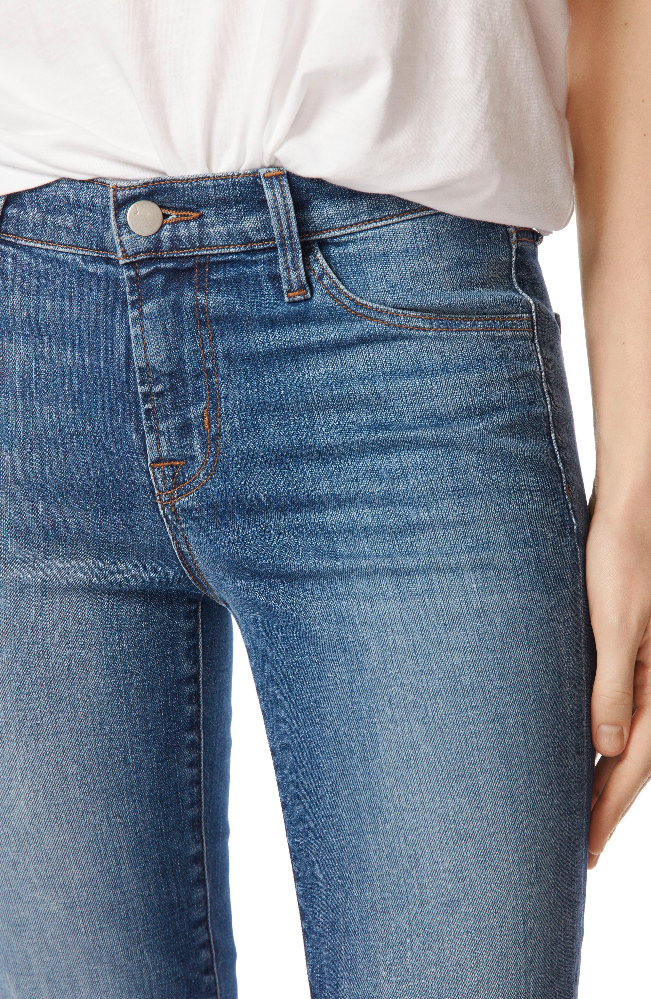 811 Step Hem Skinny Jeans,                             Alternate thumbnail 4, color,                             Gossamer
