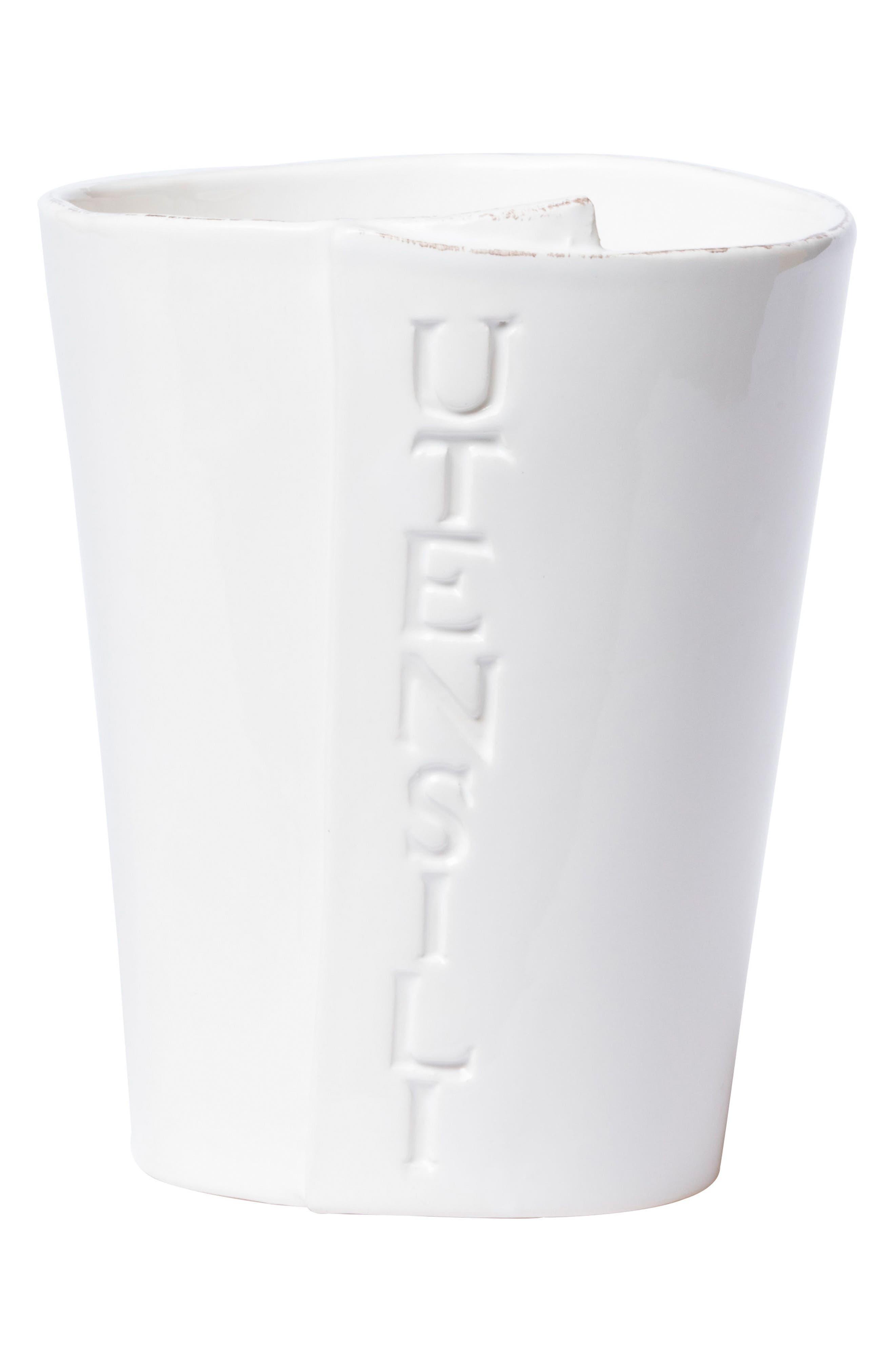 Lastra Utensil Holder,                             Main thumbnail 1, color,                             White