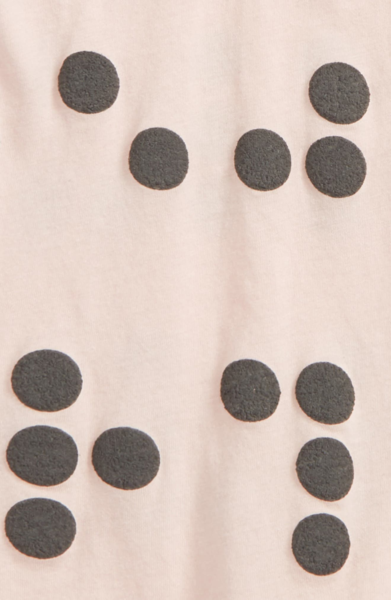 Braille Romper,                             Alternate thumbnail 2, color,                             Powder Pink