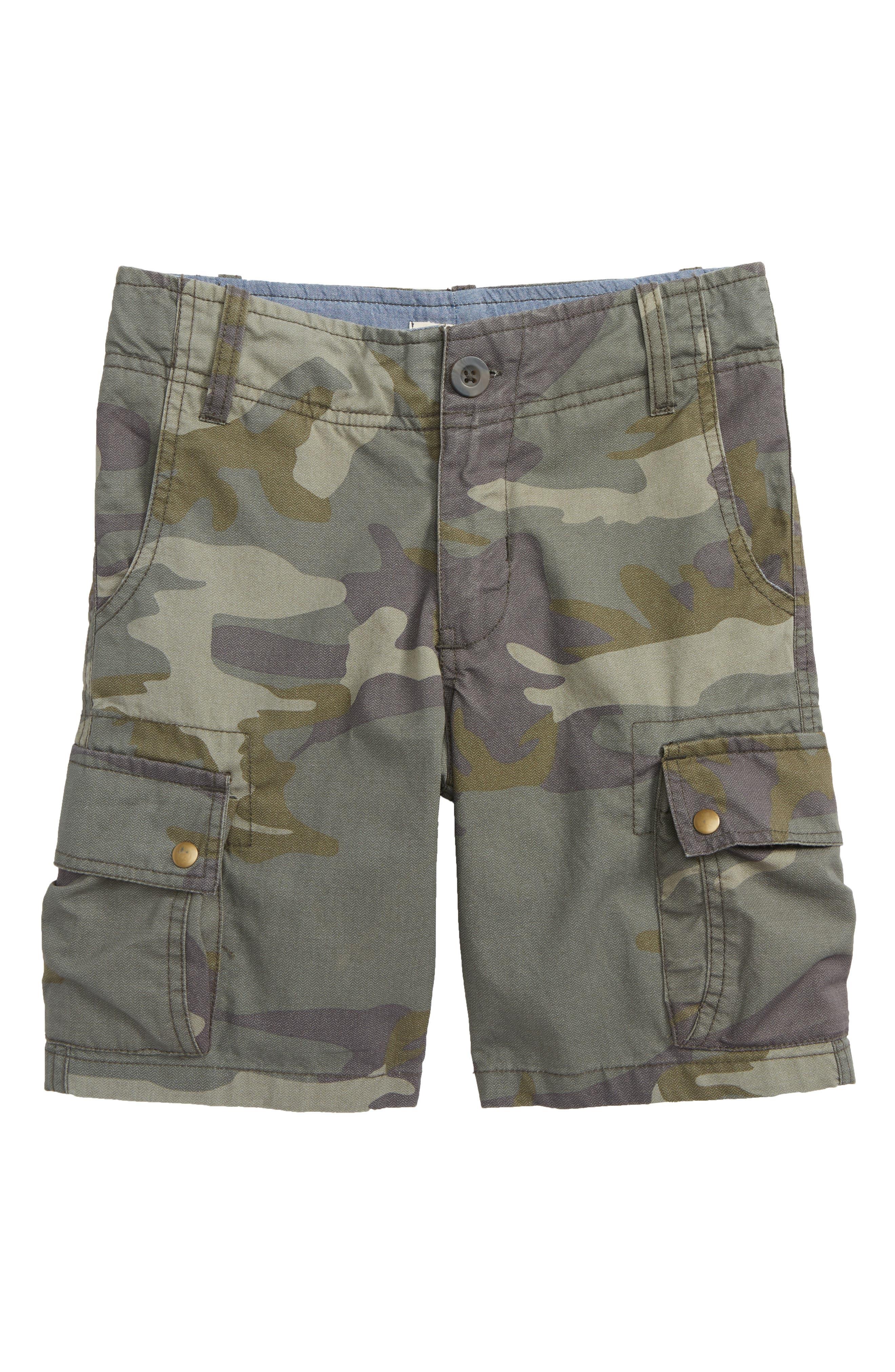 Camo Cargo Shorts,                         Main,                         color, Olive