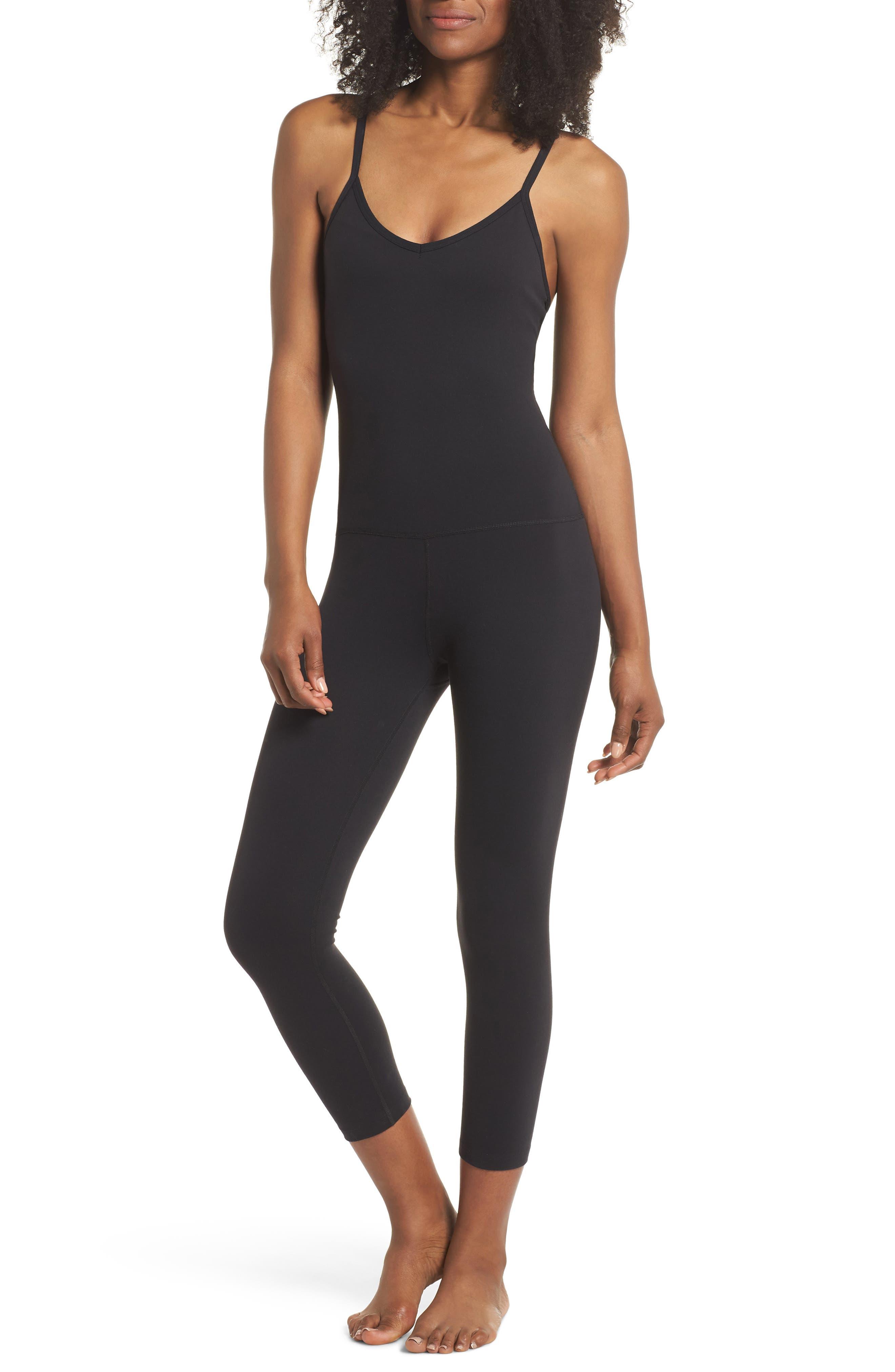 Levels Shelf Bra Bodysuit,                         Main,                         color, Jet Black