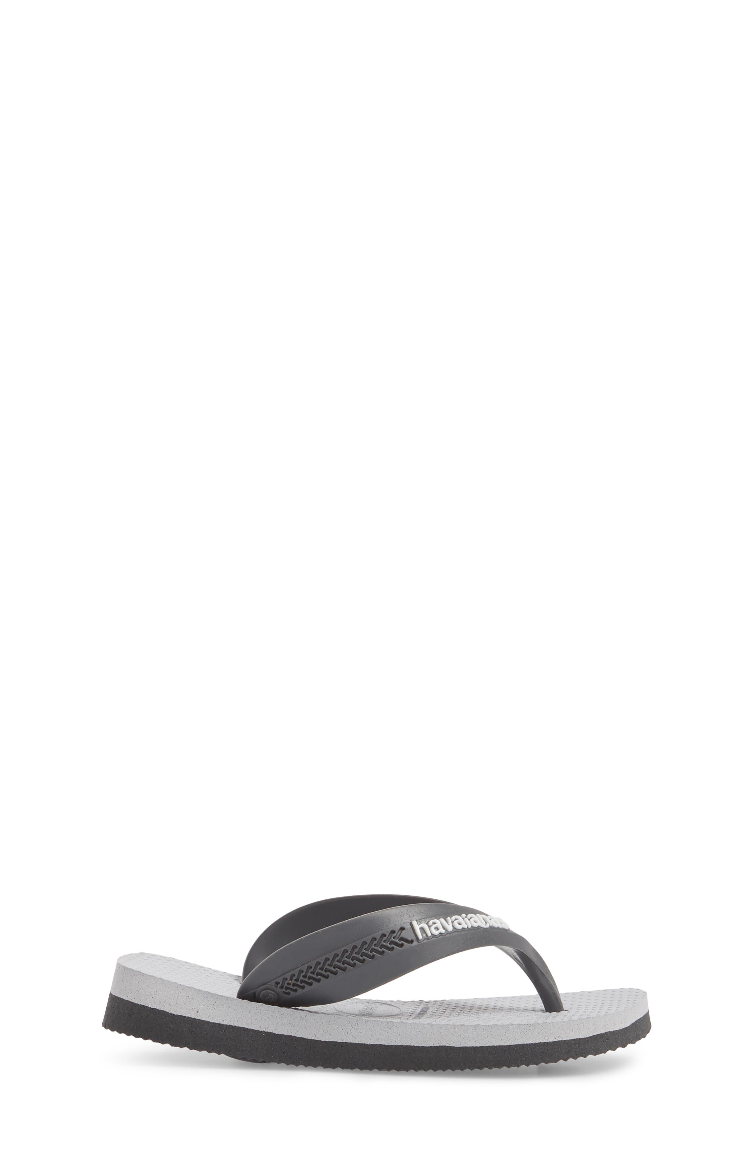 'Max' Flip-Flop,                             Alternate thumbnail 3, color,                             Graphite/ Ice Grey