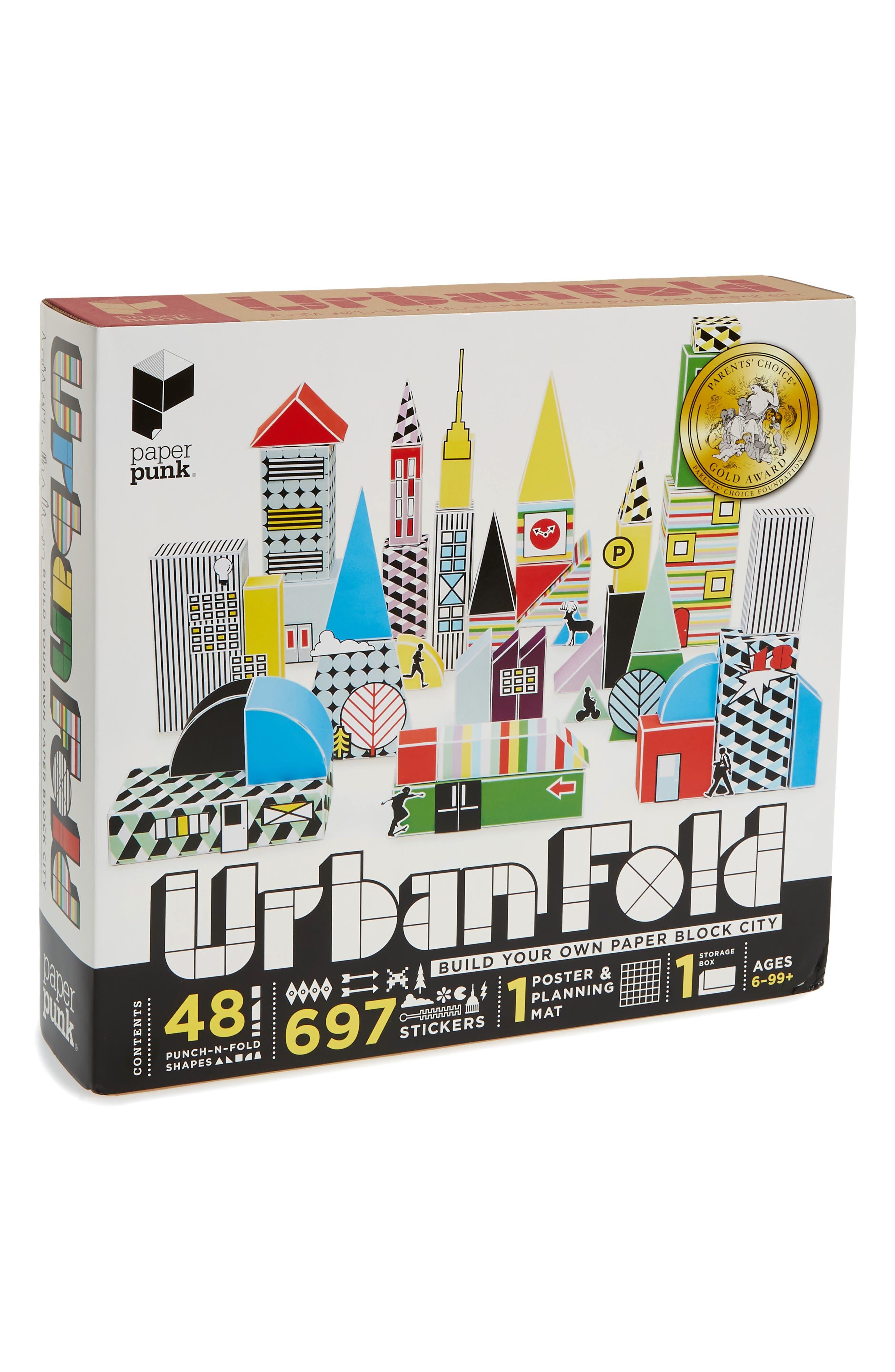 Urban Fold Build Your Own Paper Block City Kit,                         Main,                         color, Multi