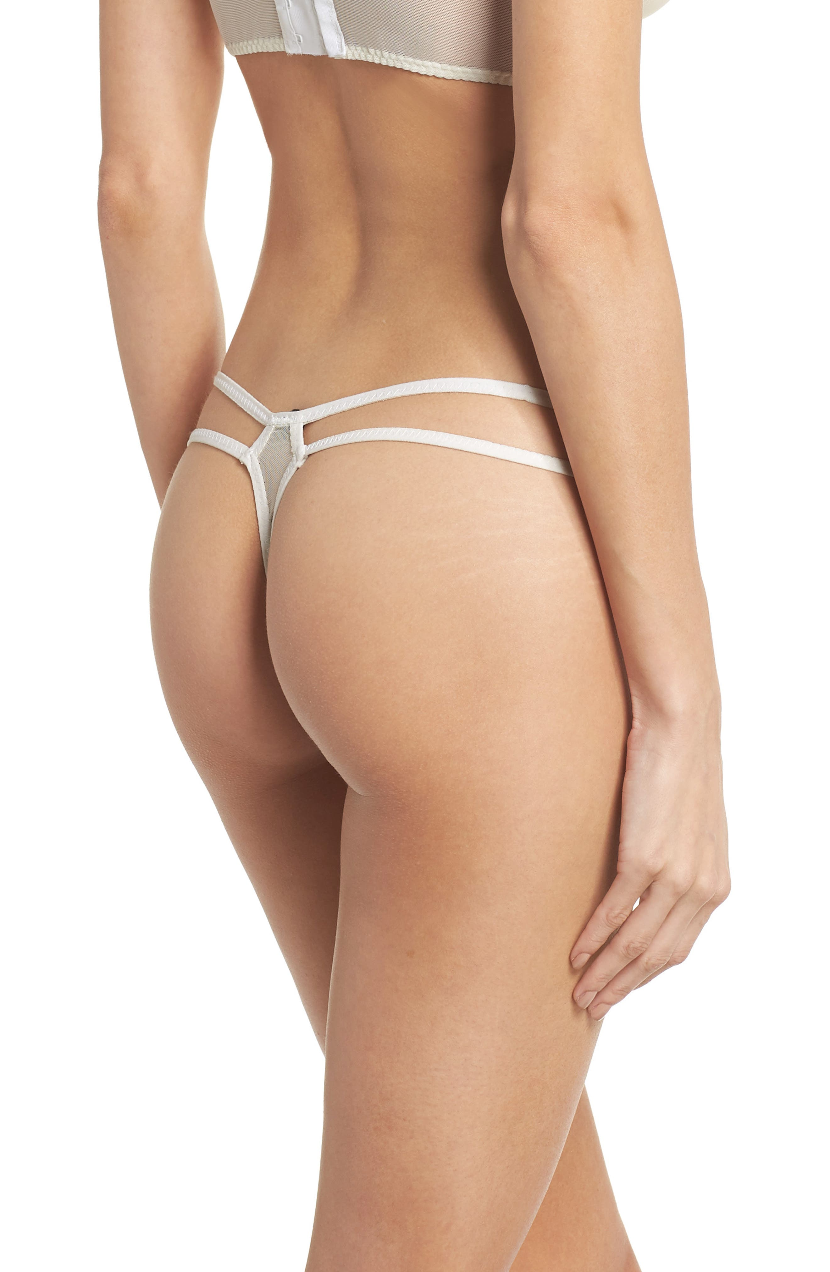 Thistle & Spire Willow Strappy Thong,                             Alternate thumbnail 2, color,                             Ivory