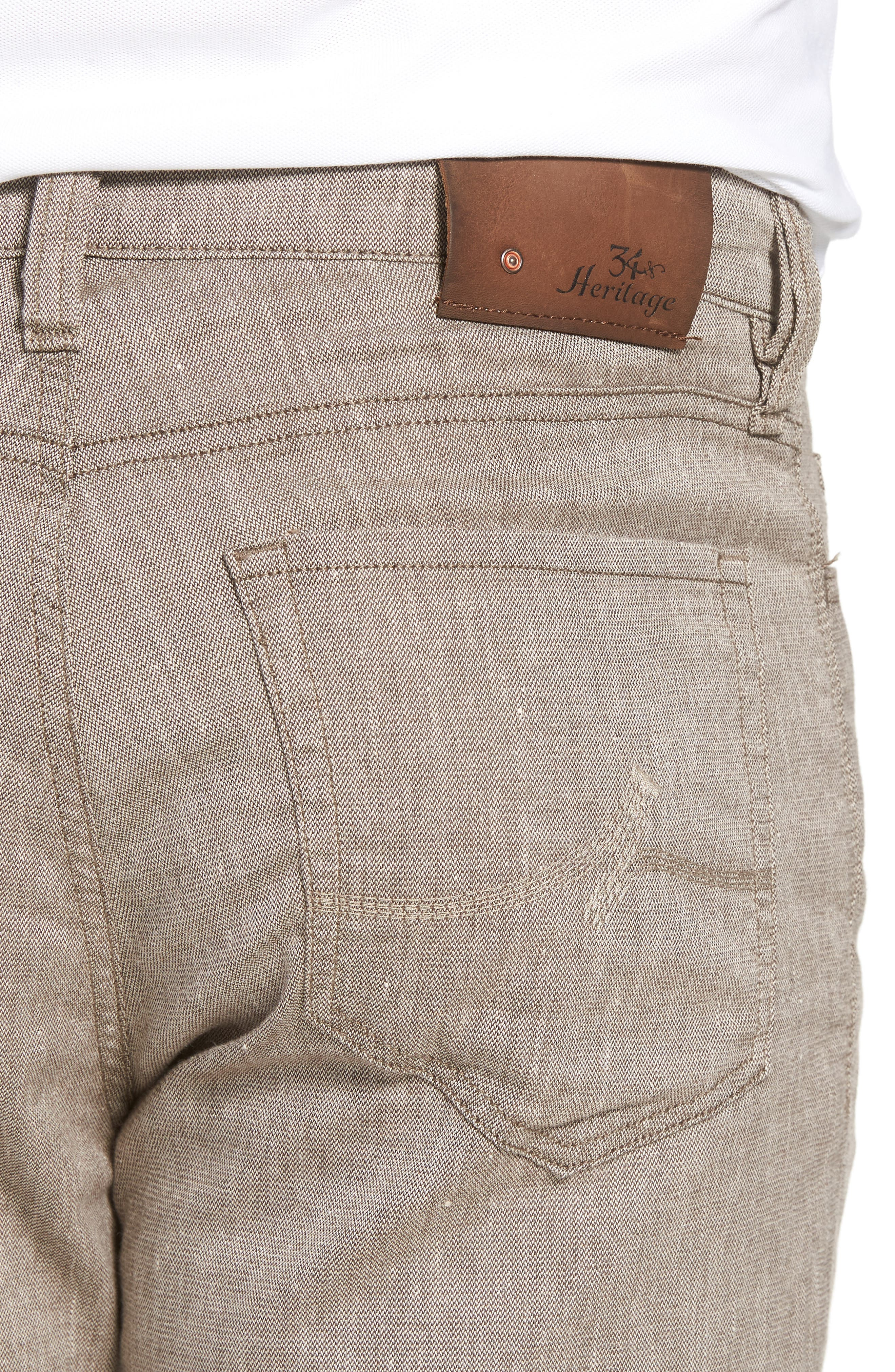 Charisma Relaxed Fit Pants,                             Alternate thumbnail 4, color,                             Latte Textured