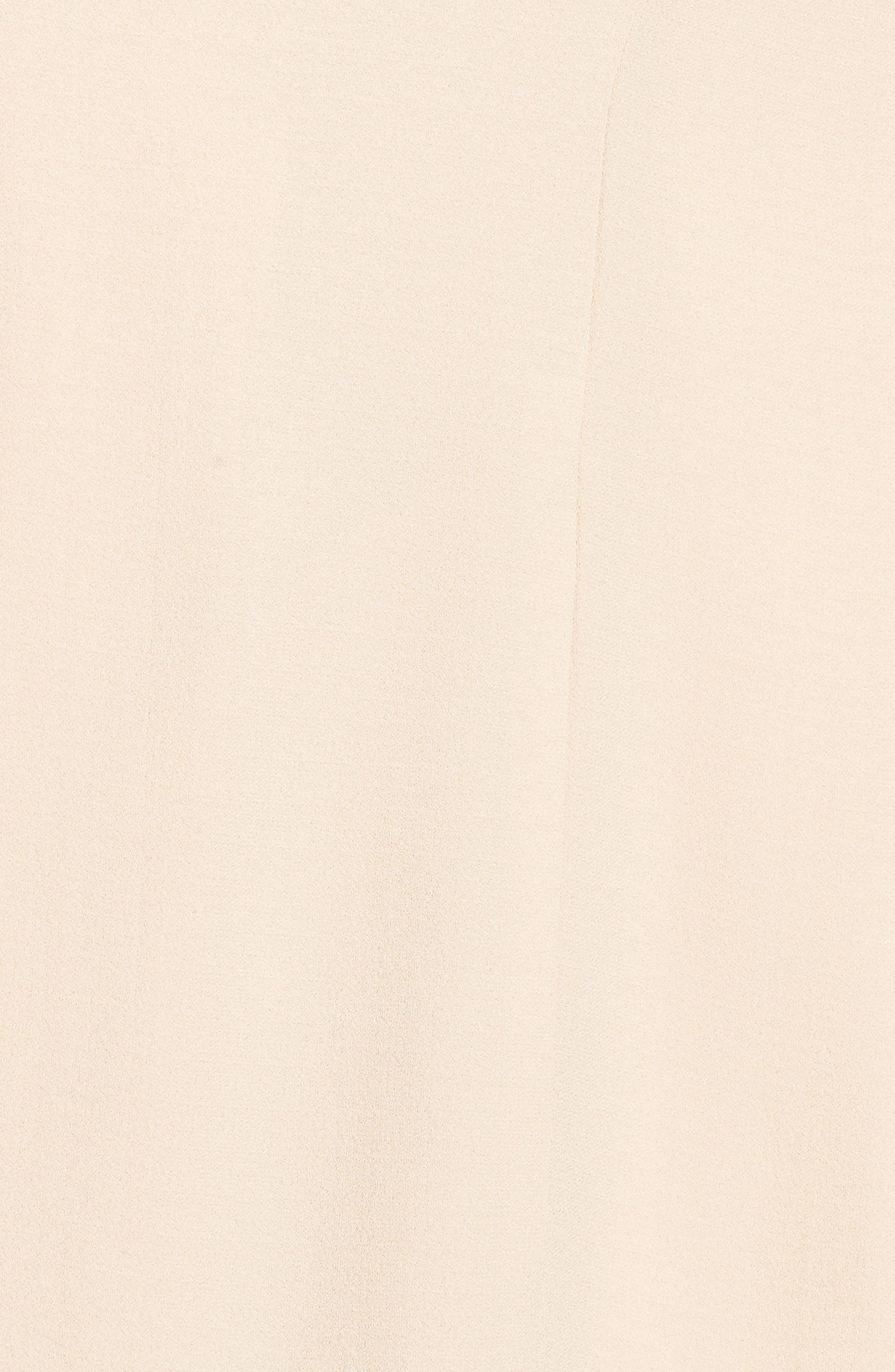 Long Silk Jacket,                             Alternate thumbnail 6, color,                             Buttercream